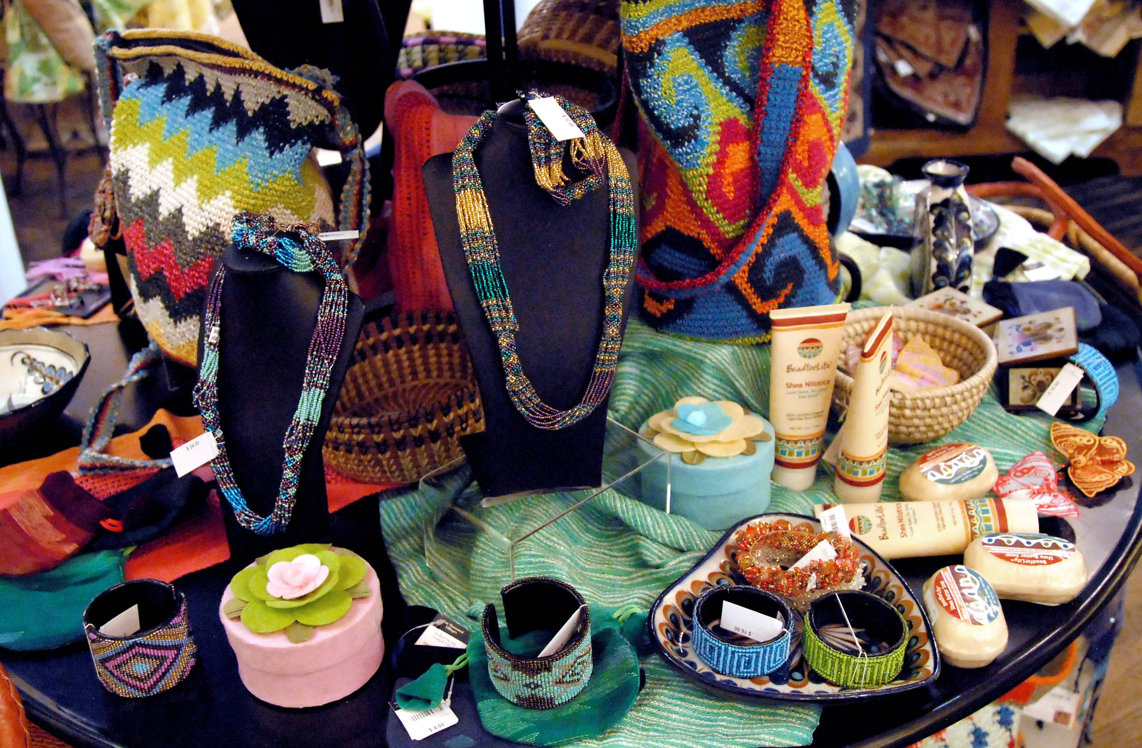 The Little Traveler in Geneva has added a Fair Trade Gallery to its many departments. Items include jewelry, bags, soaps, home decor and more, made by people in developing countries who are paid fair prices for their work and encouraged to use ecologically sustainable practices.
