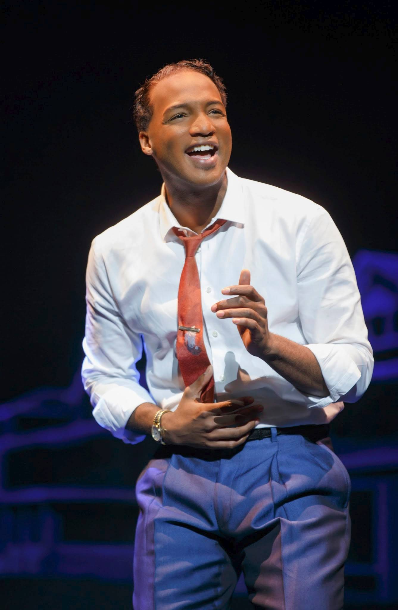 "Clifton Oliver stars as Berry Gordy in the national tour of ""Motown the Musical,"" which plays the Oriental Theatre in Chicago through Saturday, Aug. 9."