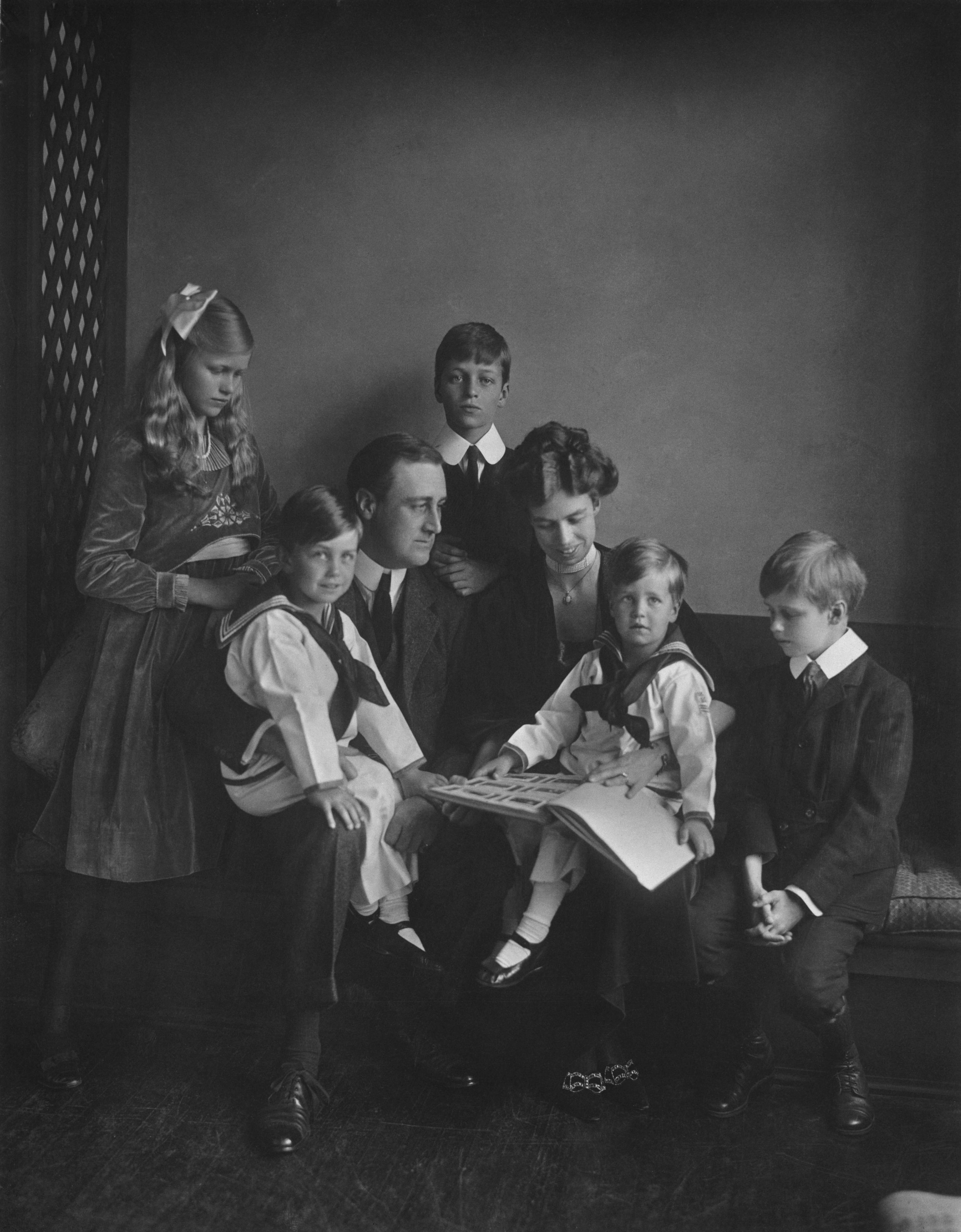"Franklin and Eleanor Roosevelt with their children in Washington in 1919. PBS announced Thursday its fall season will open with the seven-part Ken Burns' documentary, ""The Roosevelts: An Intimate History."""