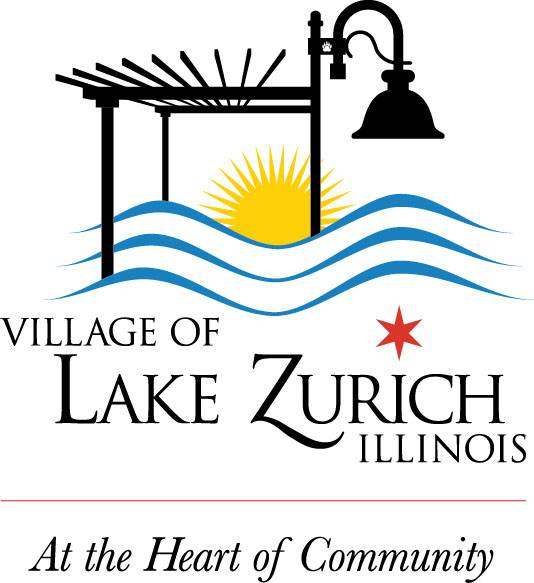"This new village of Lake Zurich logo will be used for marketing purposes. In it is the new village slogan ""At the Heart of Community."""