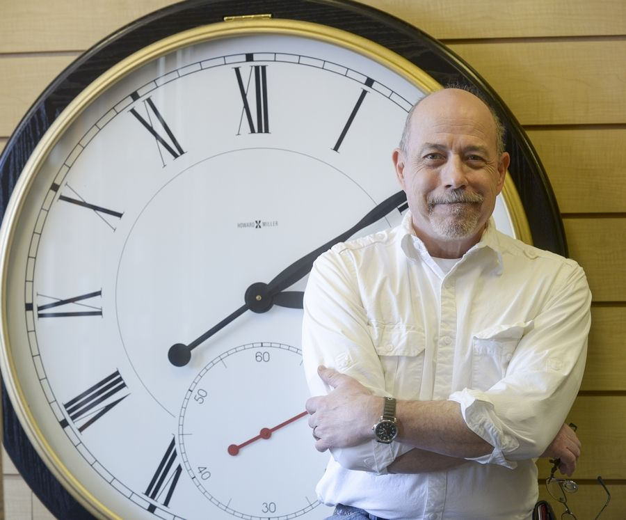 Jim Lachapelle is a certified master clockmaker and co-owner of Elgin Clock Repair with locations in Naperville and South Elgin.