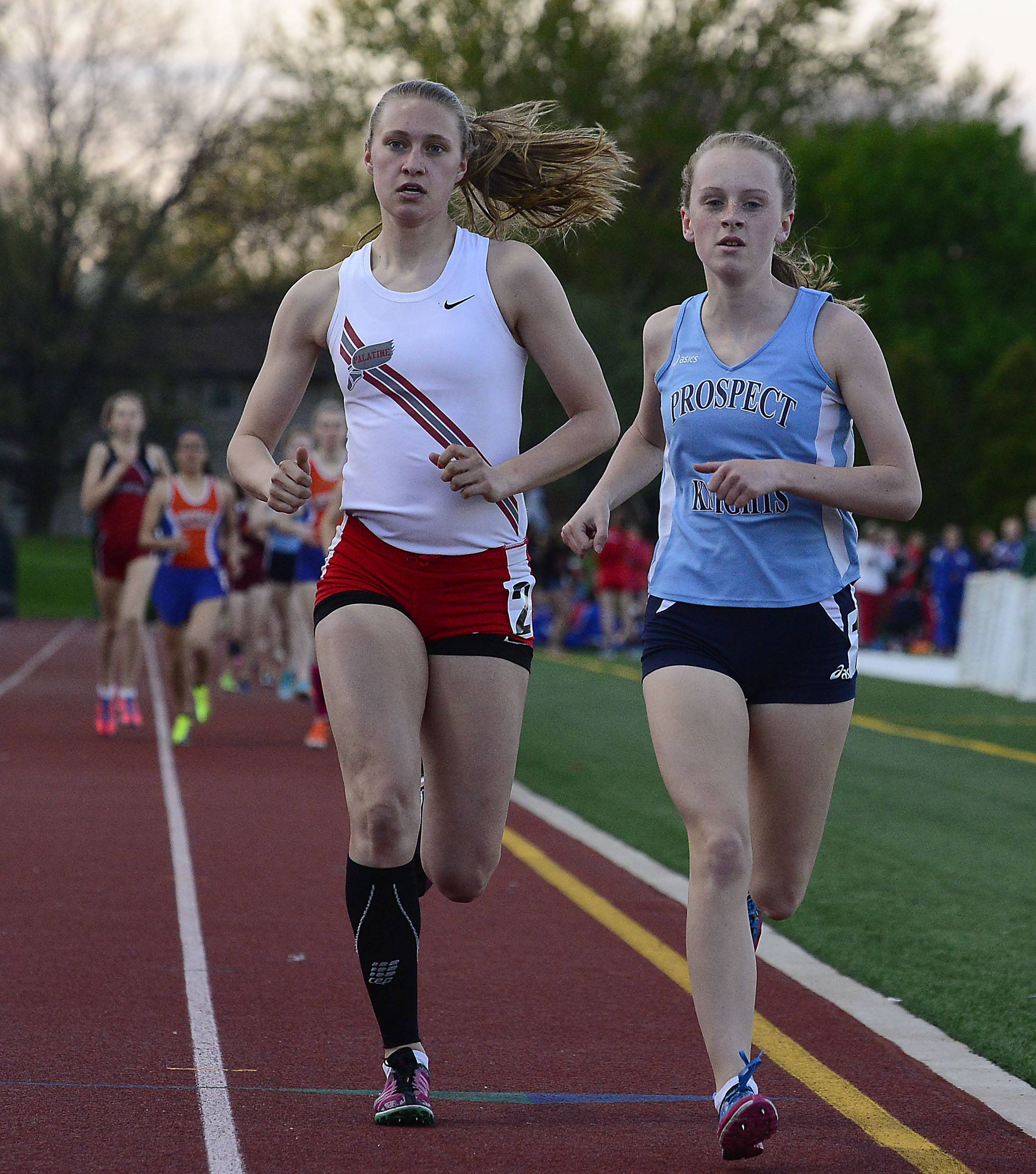 Brooke Wilson of Prospect wins the 3,200-meter run in MSL meet at Wheeling on Friday.