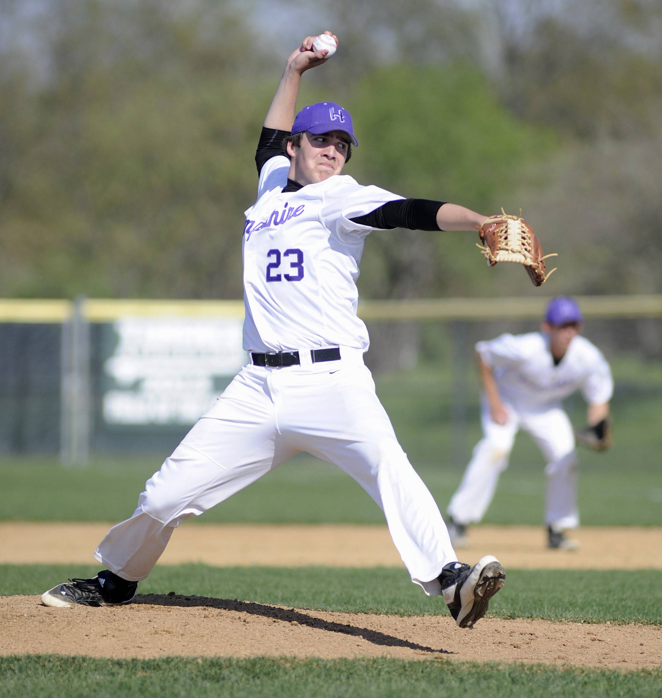 Hampshire's Alex Crinigan pitches to Grayslake Central Friday.