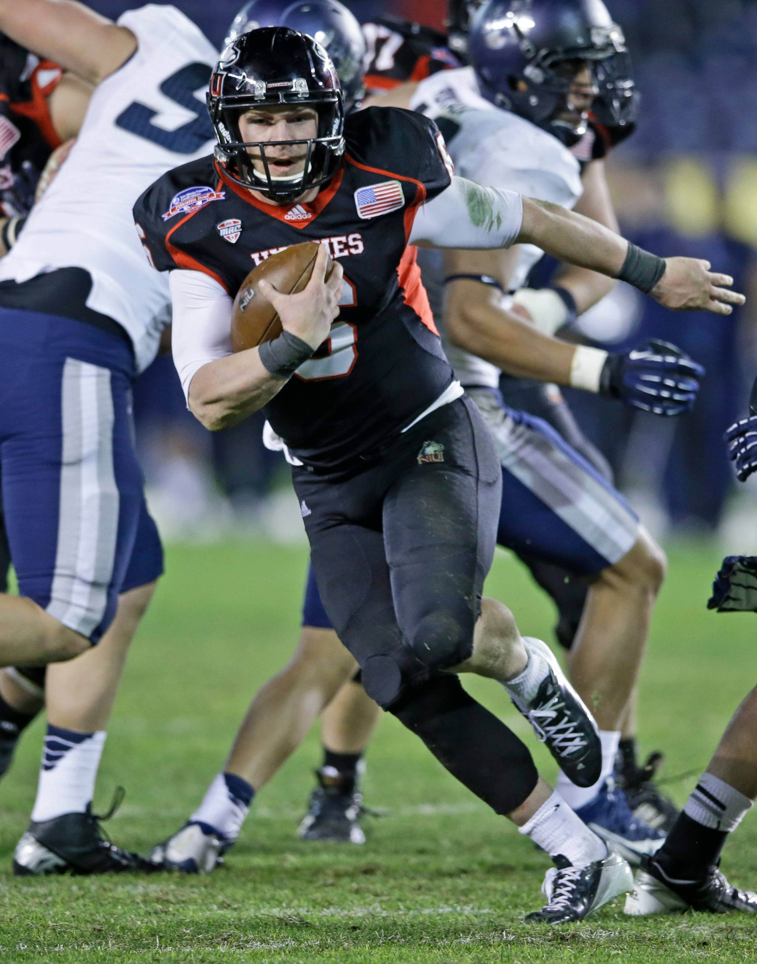 Northern Illinois quarterback Jordan Lynch finished third in the Heisman Trophy voting this past season.