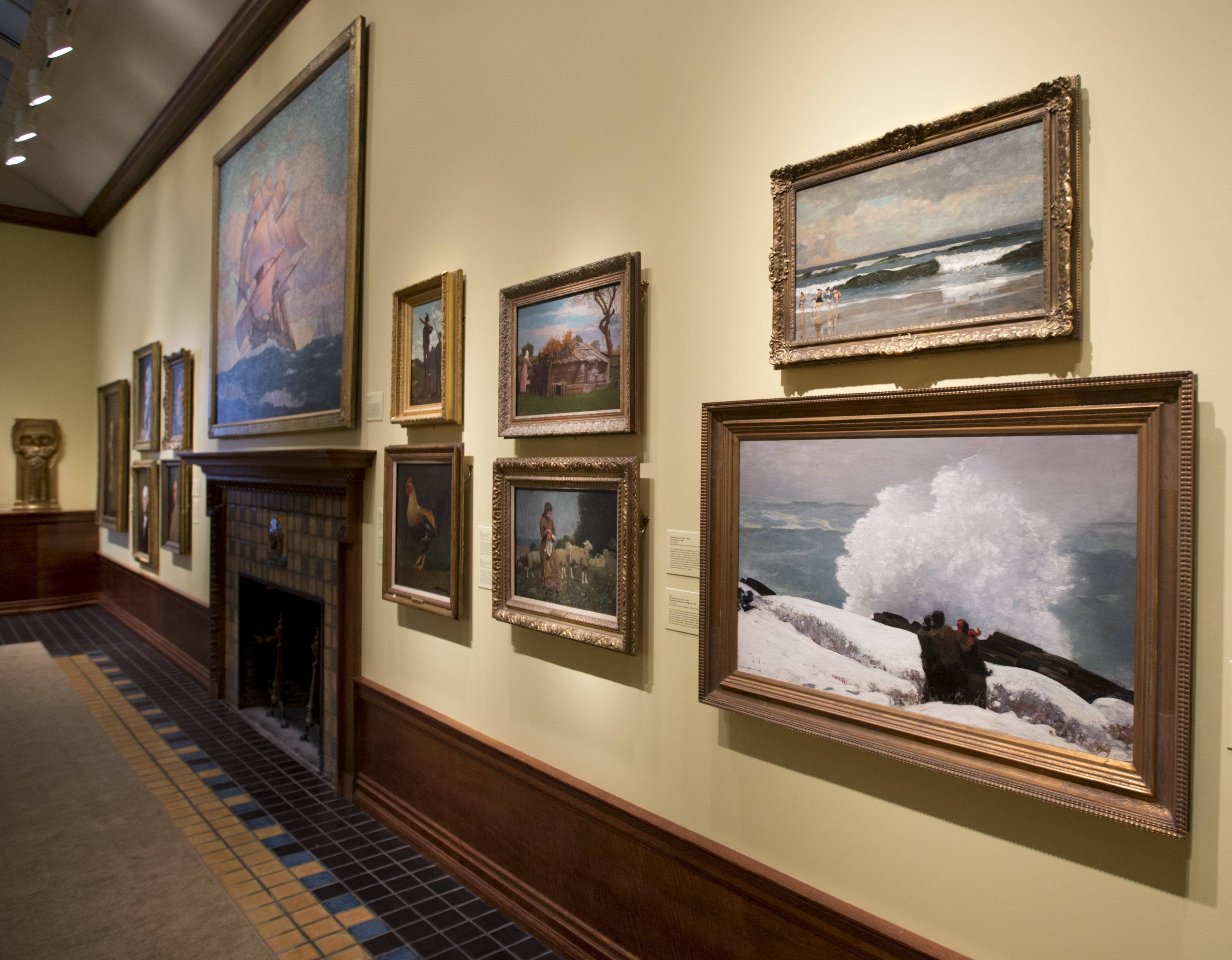Paintings by artist Winslow Homer hang in the Arkell Museum in Canajoharie, New York. The museum, started in 1928 by Bartlett Arkell, founder of the Beech-Nut food company, is located next door to company's former plant in Canajoharie.