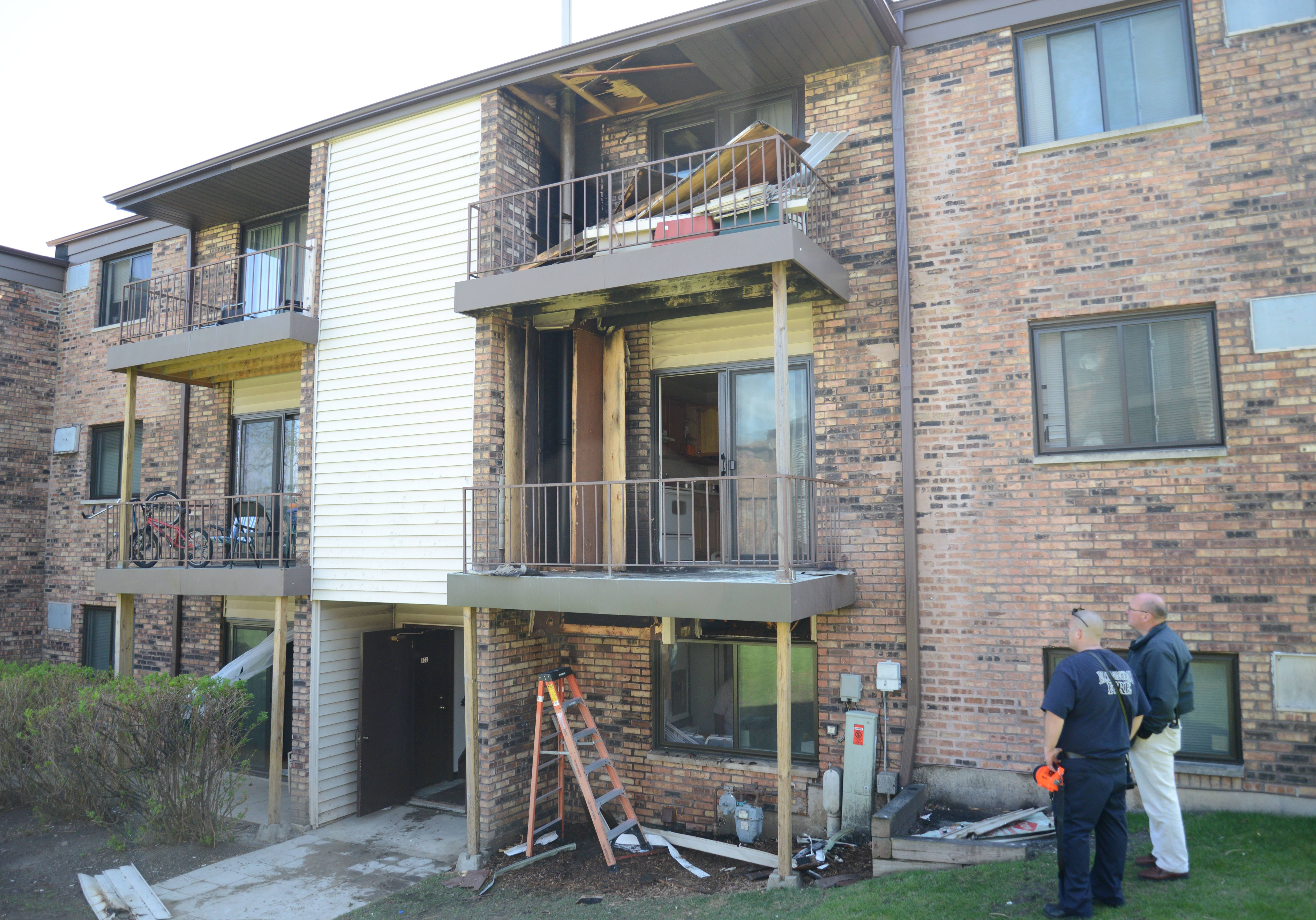 No one was injured but three families were displaced Friday when fire struck a Bloomingdale apartment building.