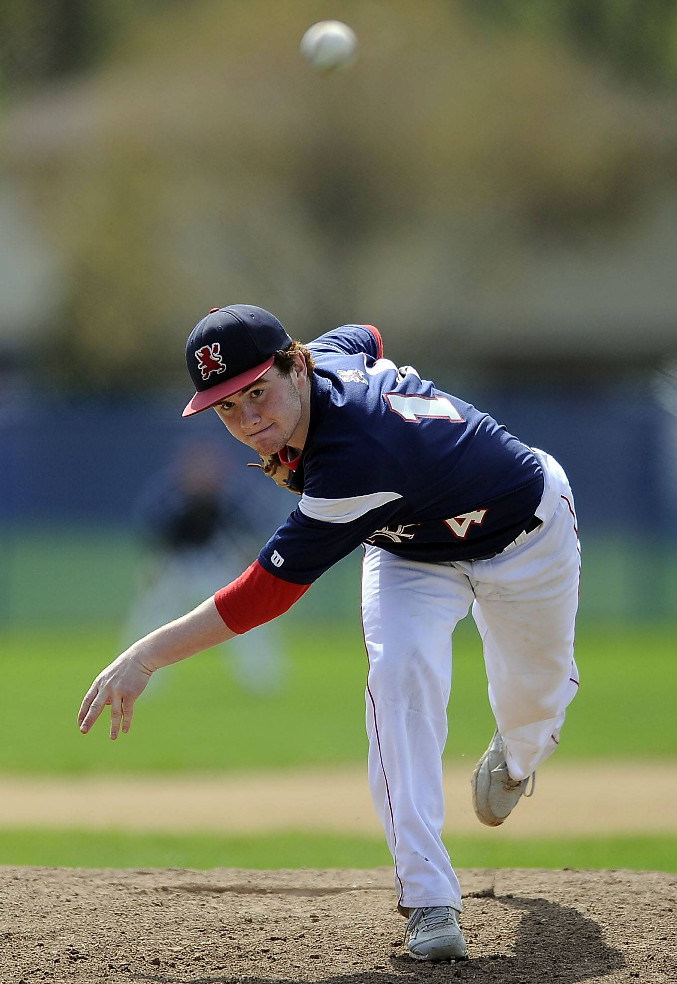 St. Viator's pitcher Mike Piet delivers against host Prospect on Saturday.