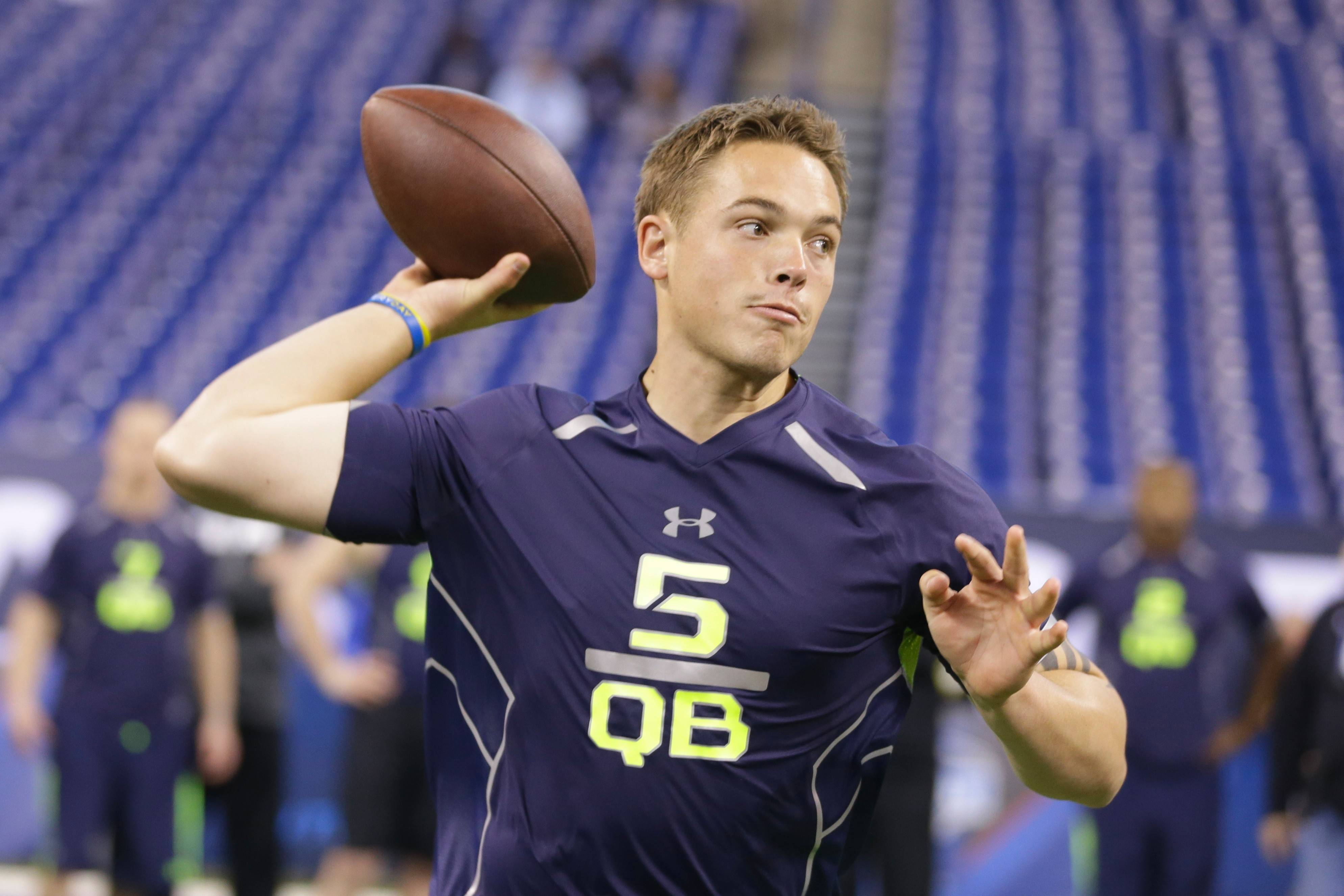Sixth-round pick David Fales connected on 68 percent of his passes in two seasons at San Jose State.