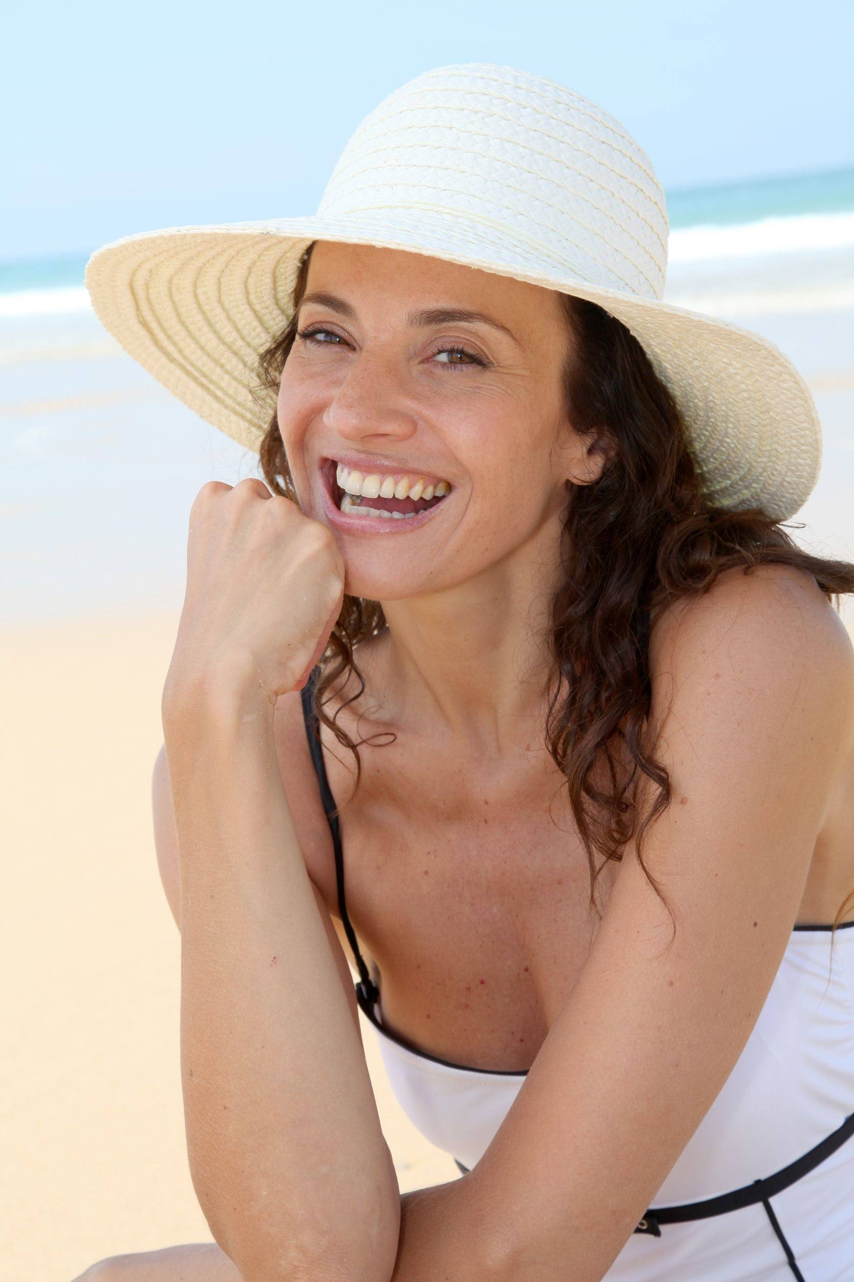 A wide-brim hat can reduce exposure to the sun.