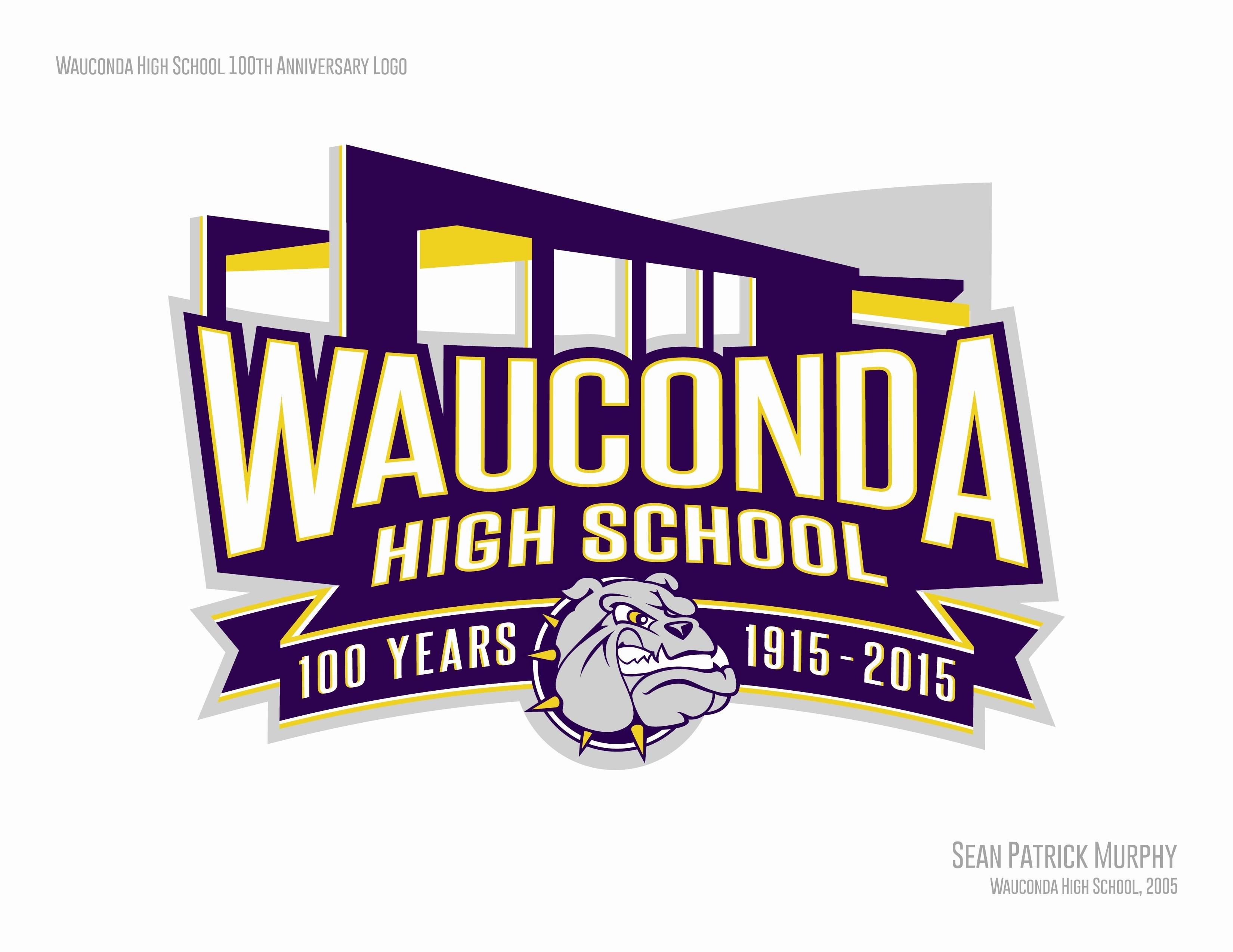 A Wauconda High School alumni designed this centennial logo, which will be used on stationery, shirts and other displays during the school's upcoming centennial year.
