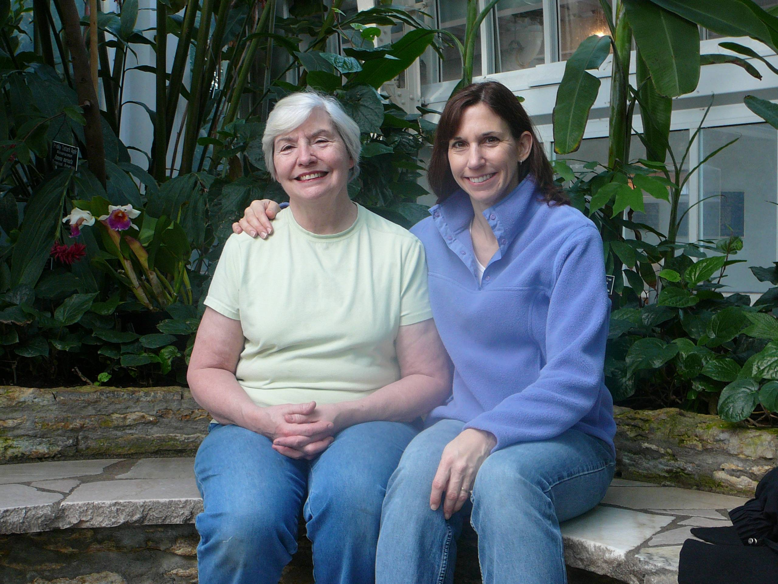 Asst. Opinion editor Colleen Thomas and her mom, Barbara Foster, enjoy a day at the Como Park Conservatory in St. Paul. They steered clear of Mall of America the day after Christmas and instead absorbed the landmark's tropical air -- a winter oasis in Minnesota.