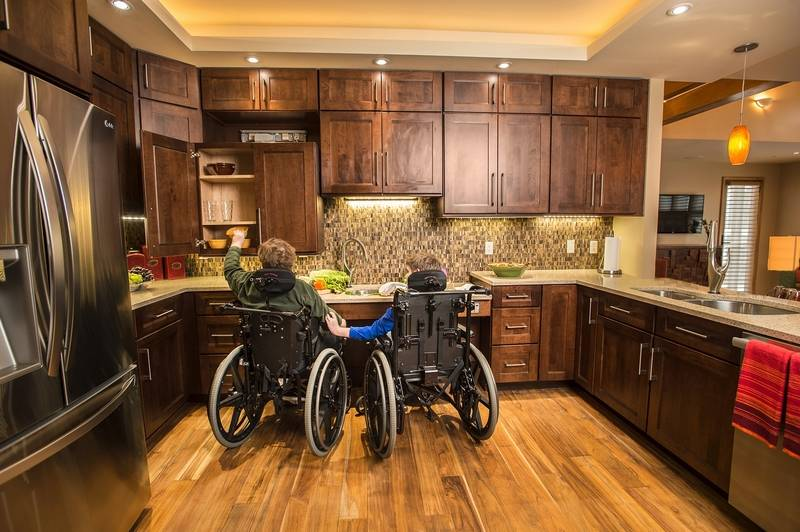 A dream design for the disabled for Building a wheelchair accessible home