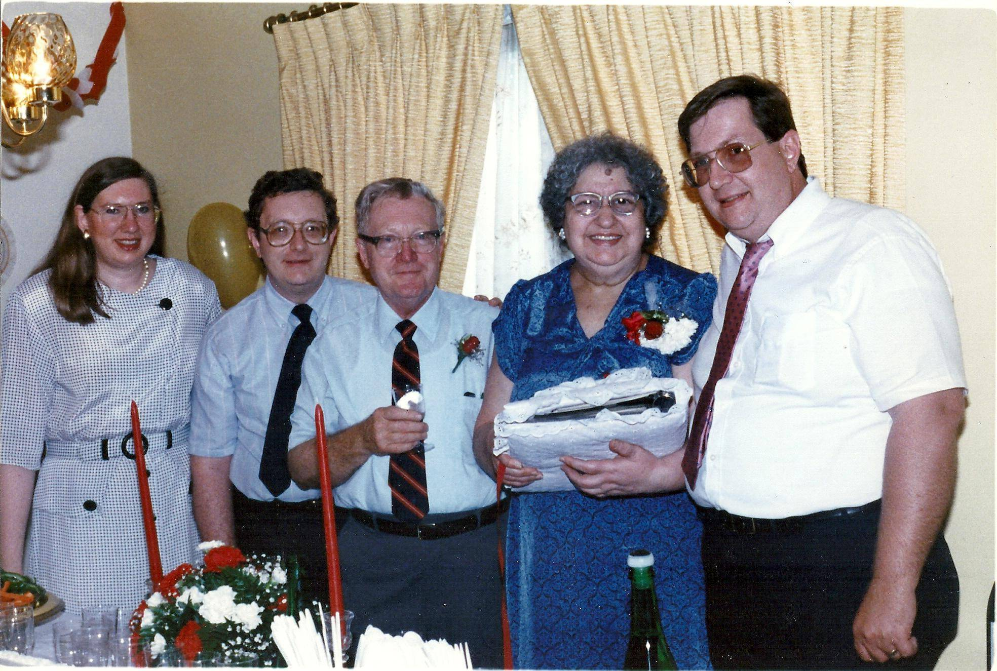 This is one of Business Writer Anna Marie Kukec's favorite photos with her mother, Angeline Kukec, taken at her parent's 40th wedding anniversary in 1988, and the last before her mother passed away. Anna Marie, from left, brother Paul Kukec of Darien, father Ernest Kukec of Evergreen Park, the late Angeline, and the late William Kukec, formerly of Naperville.