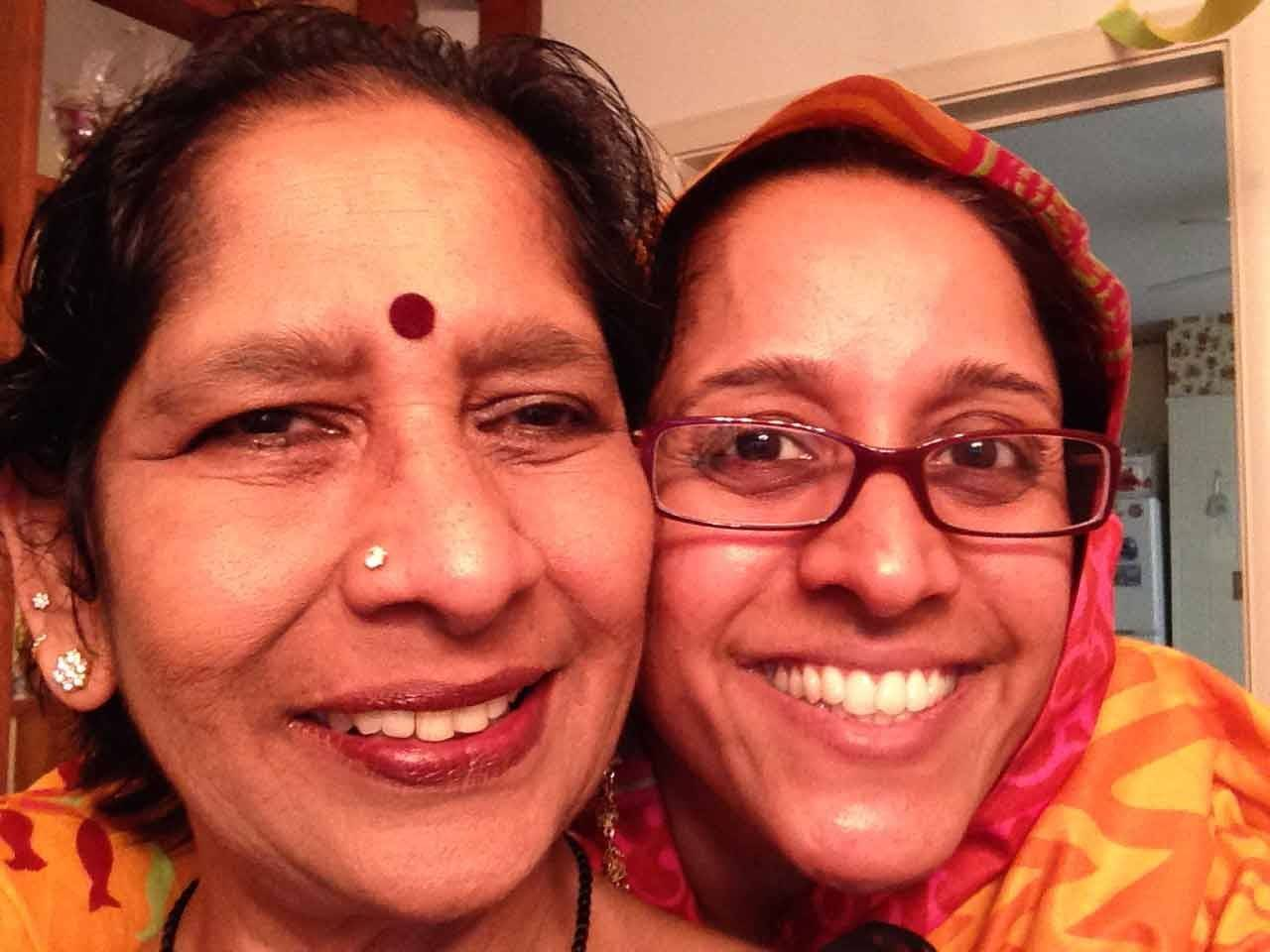 Reporter Madhu Krishnamurthy: Thank you for all that you do. Happy Mother's Day, Shyamala Krishnamurthy!