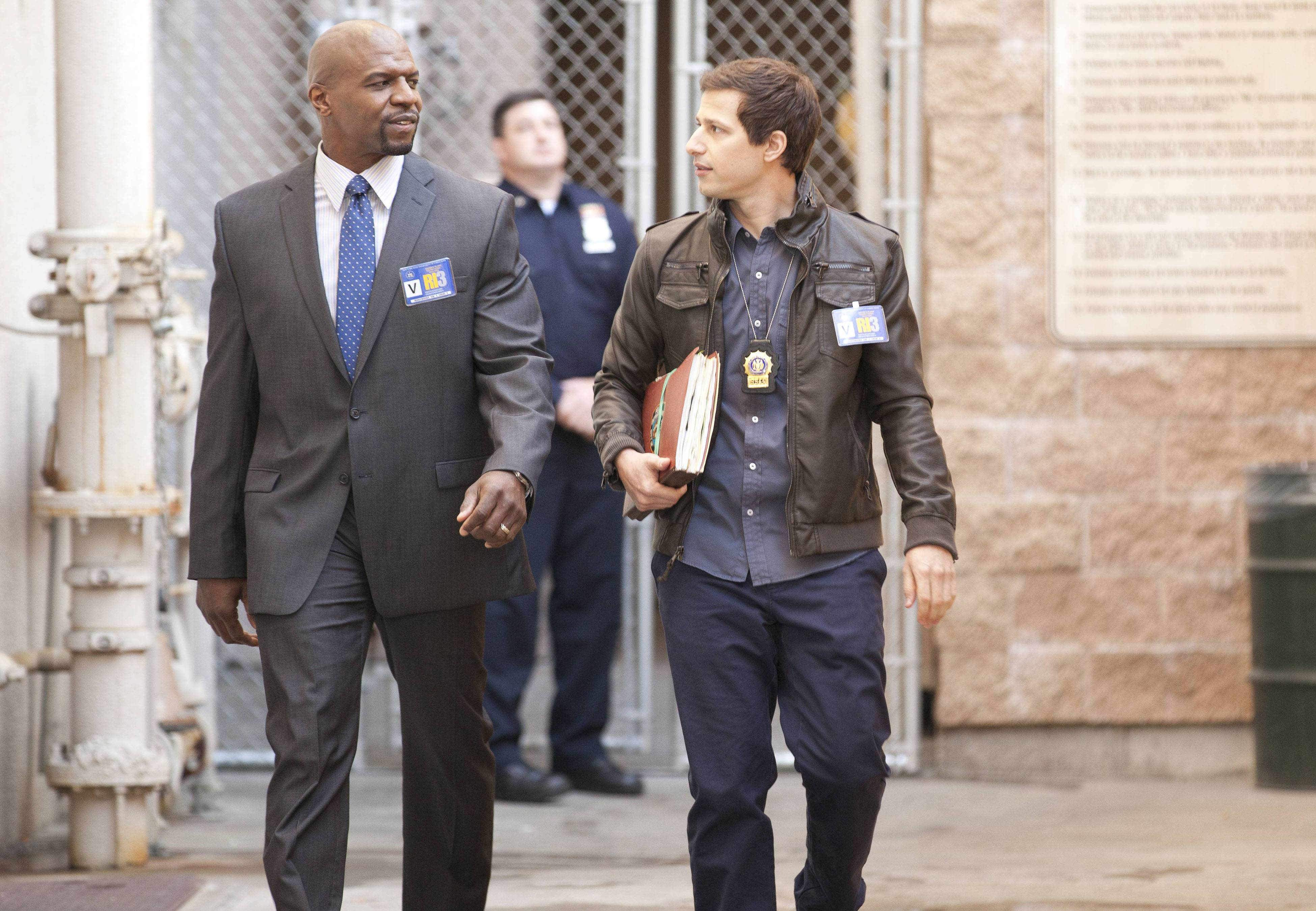"Fox will break up its Sunday animation block by moving in the critical favorite ""Brooklyn Nine Nine,"" starring Terry Crews, left, and Andy Samberg."