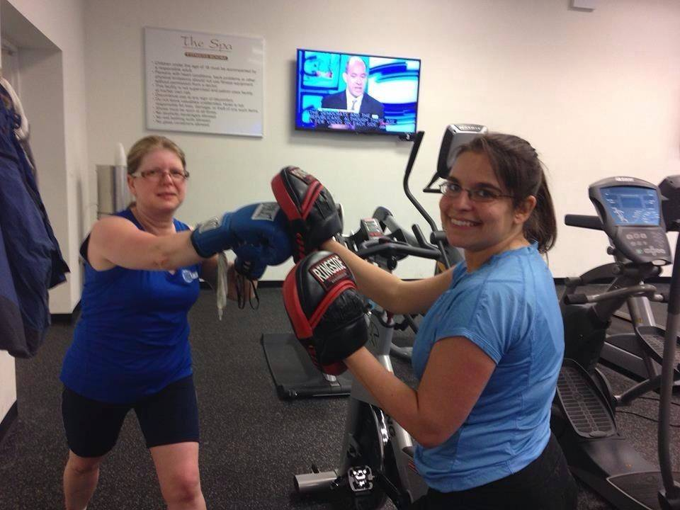 Elk Grove Village's Team Fit punched it up at the Biggest Loser Resort's boot camp.