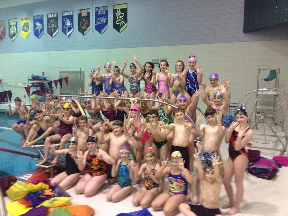 St. Charles Swim Team gets ready for the 24-Hour Swim May 17 to support the new Ronald McDonald House near the Cadence Health Central DuPage Hospital Campus.