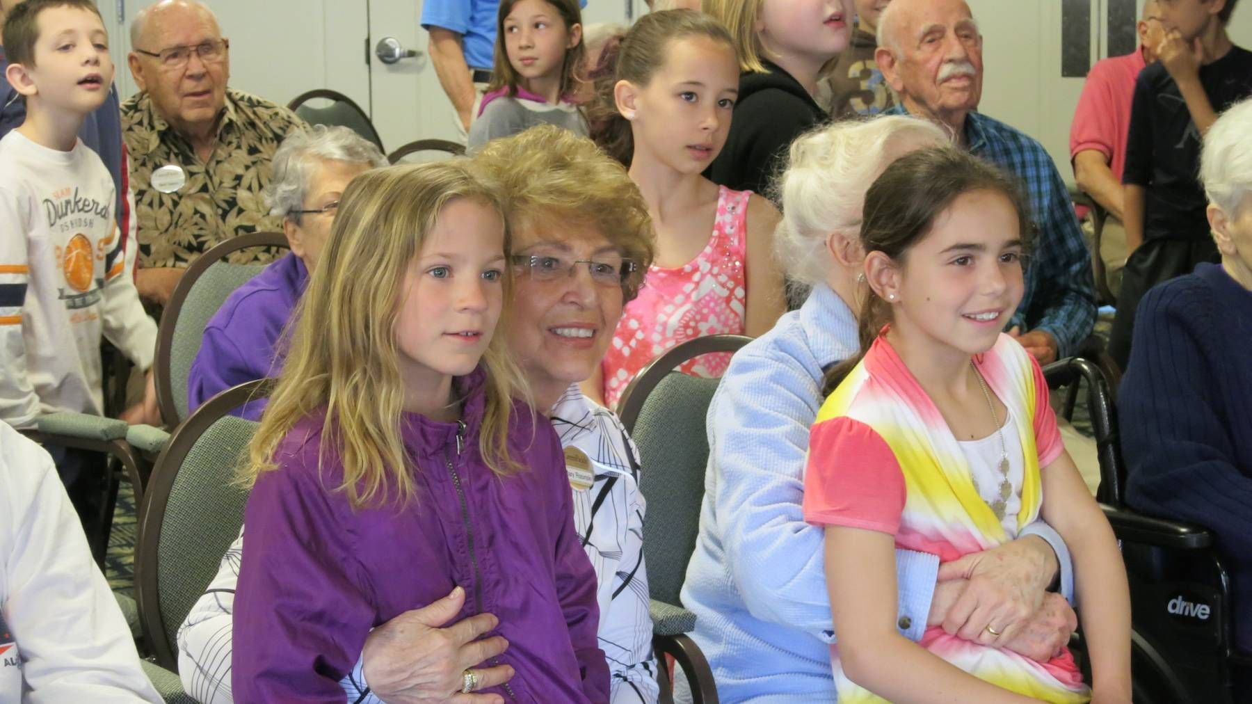 "Third-graders from the Mill Creek Elementary School in Geneva joined GreenFields residents for ""Readers are Leaders."""