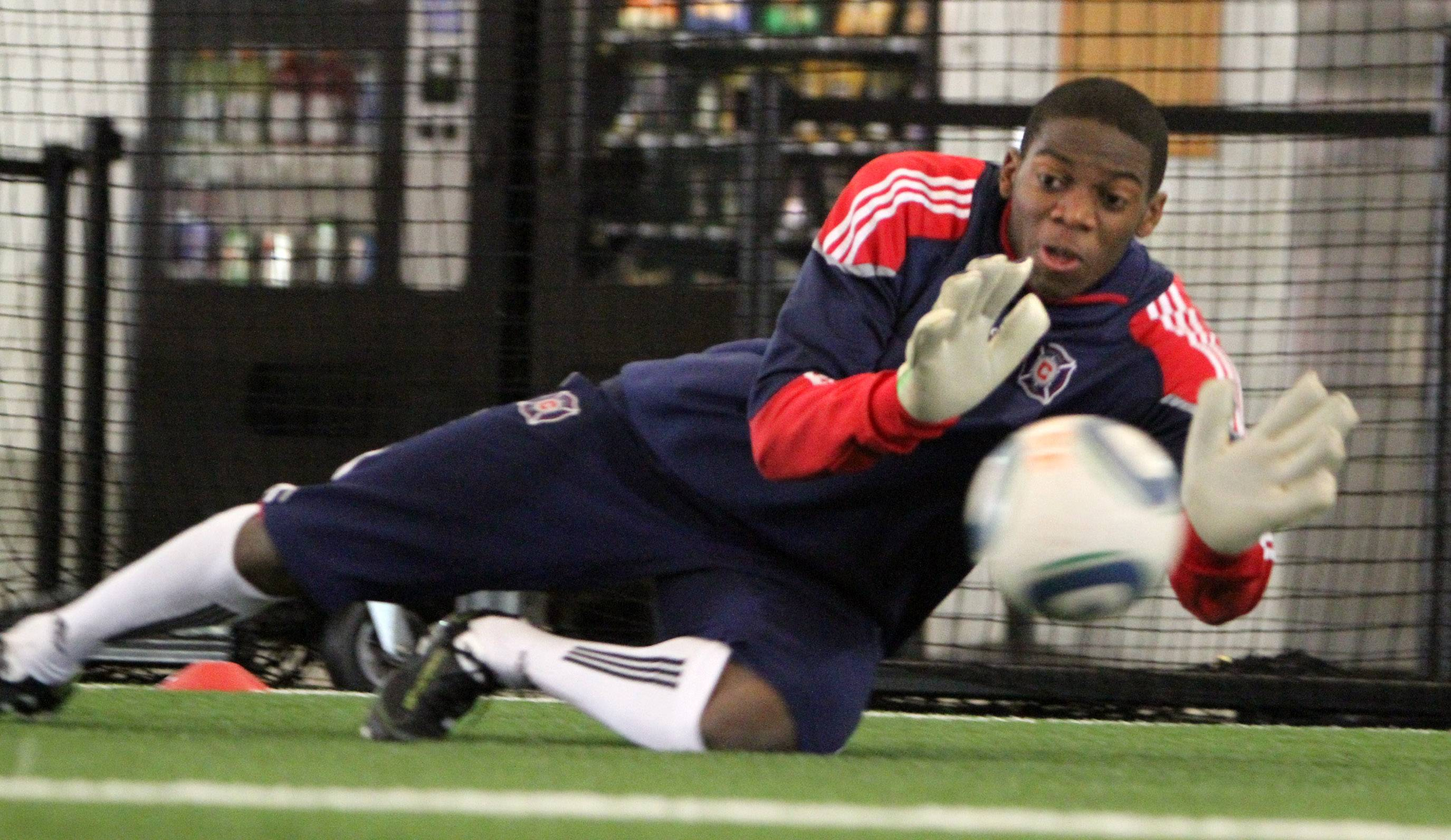 Chicago Fire goalkeeper Sean Johnson was left off the 30-man roster of U.S. players who will begin training for the World Cup on Wednesday at Stanford University.