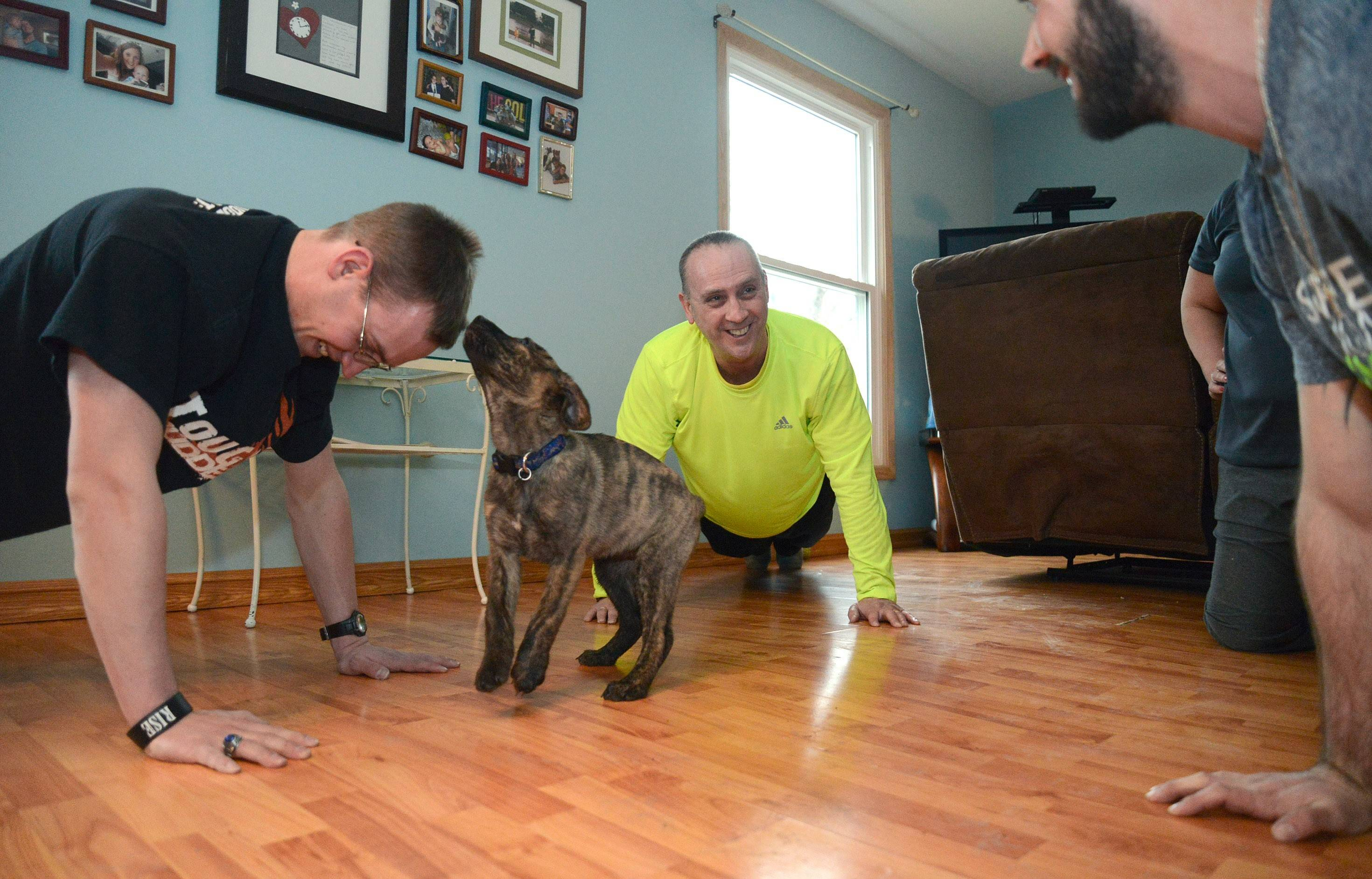 "Nowadays the Langes are off the couch and on the floor doing pushups. ""This truly has been a rebirth for me and my family,"" says Tim Lange of his Fittest Loser journey."