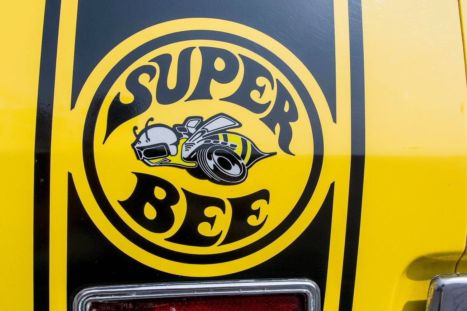 The Super Bee's front end was reportedly designed to mimic the look of bumble bee wings.