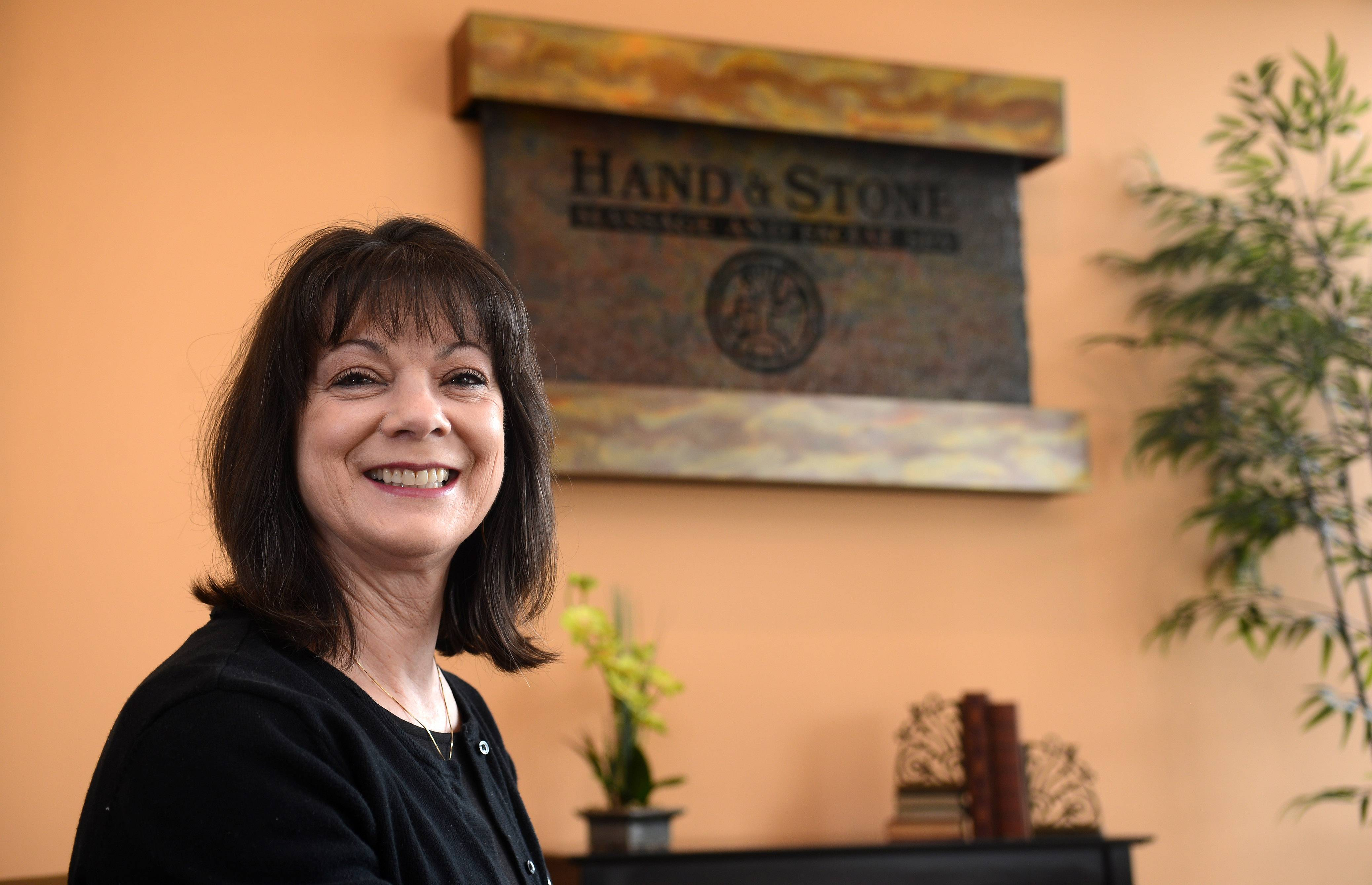 Kathy Hendershott is the owner of Hand & Stone Massage and Facial Spa in Geneva. She also owns a Hand & Stone in Wheaton, and hopes to open one in Naperville.