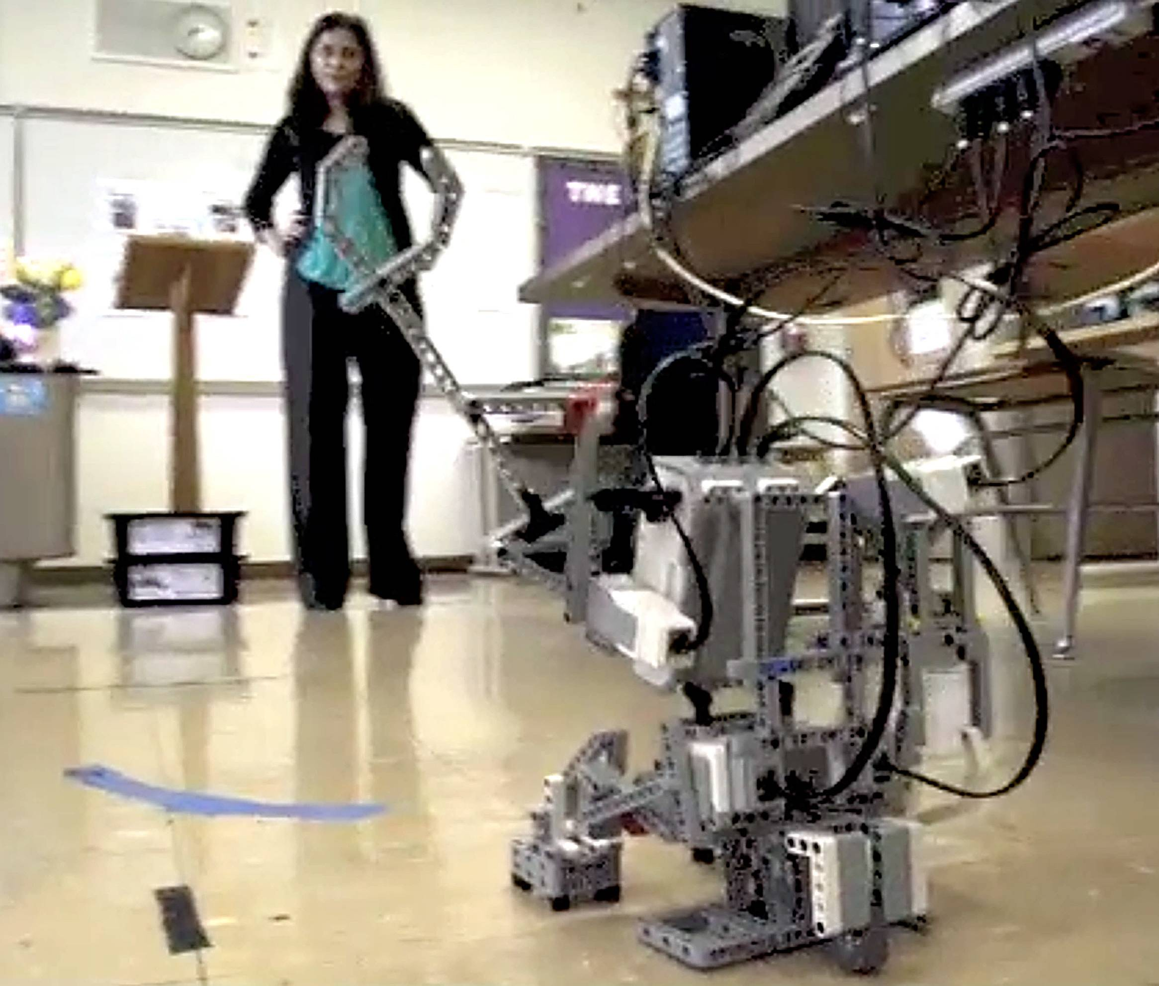 Falguni Soni is a chemistry and robotics teacher at Rosary High School in Aurora. She started the robotics class at the all-girls school.