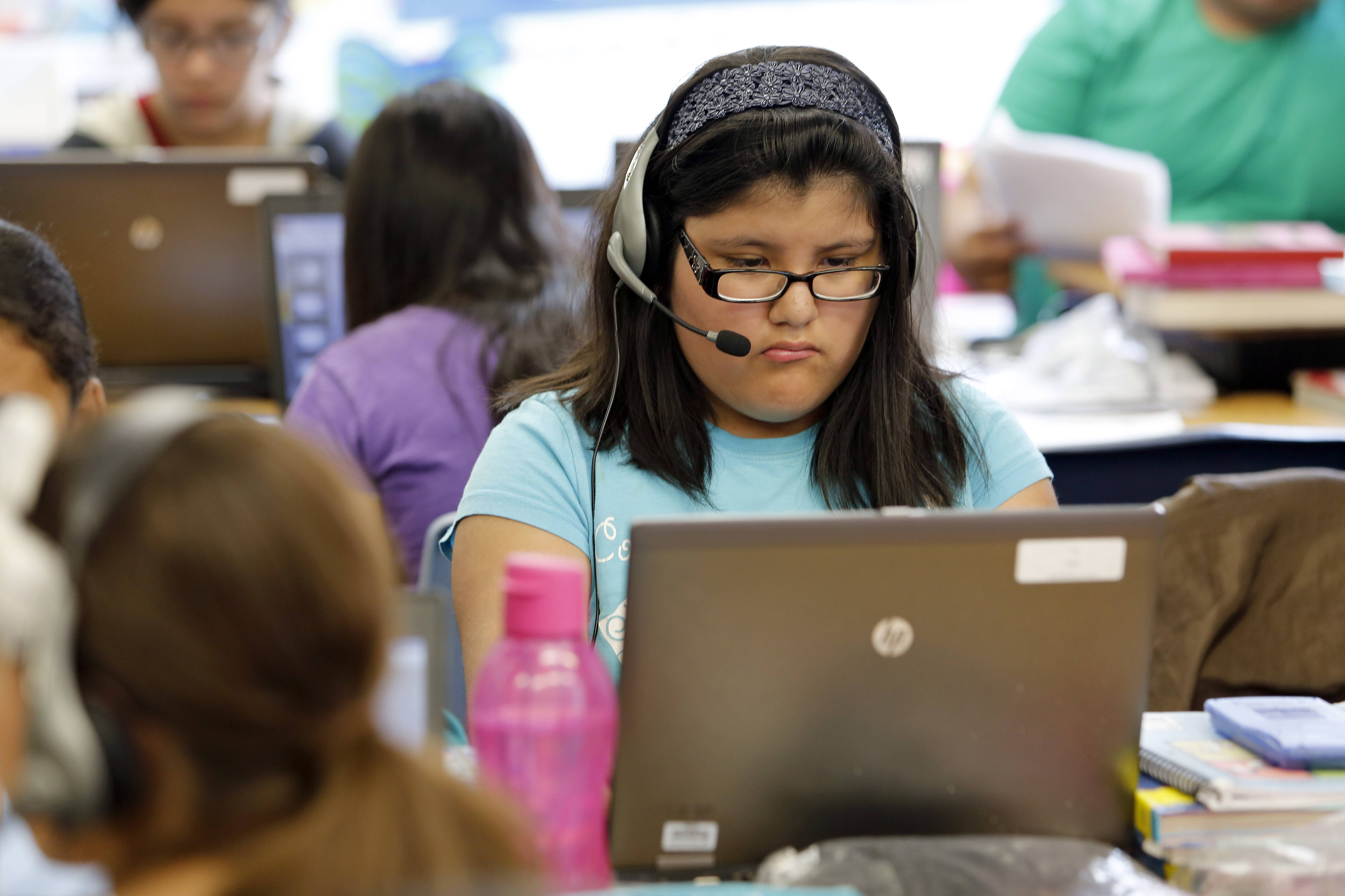 Jacqlina Perez, 11, a fifth-grader at Hillcrest Elementary School in Elgin, is one of 34 students in her general education class. According to a report this month from the Elgin Area School District U-46 Citizens' Advisory Committee, Hillcrest is one of two schools in the district over capacity.