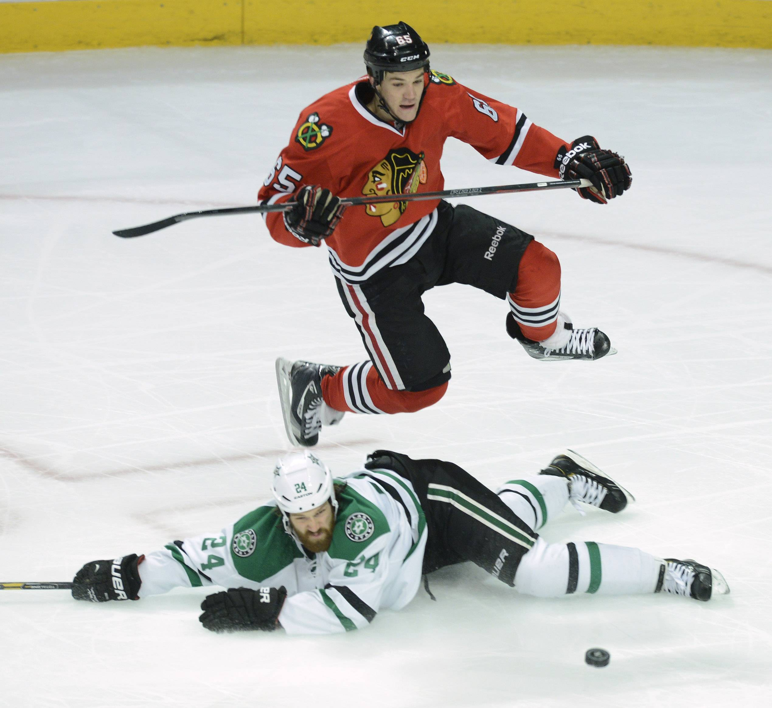 Andrew Shaw, whose status is day to day because of a lower-body injury, brings a unique attitude and skill set to the Hawks when he is on the ice.