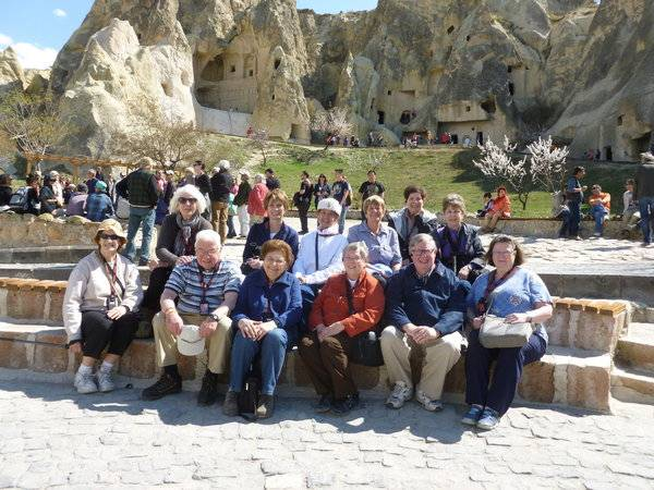 District 214 Community Education travelers to Turkey this March enjoy the Fairy Chimneys found in Cappadocia.CET