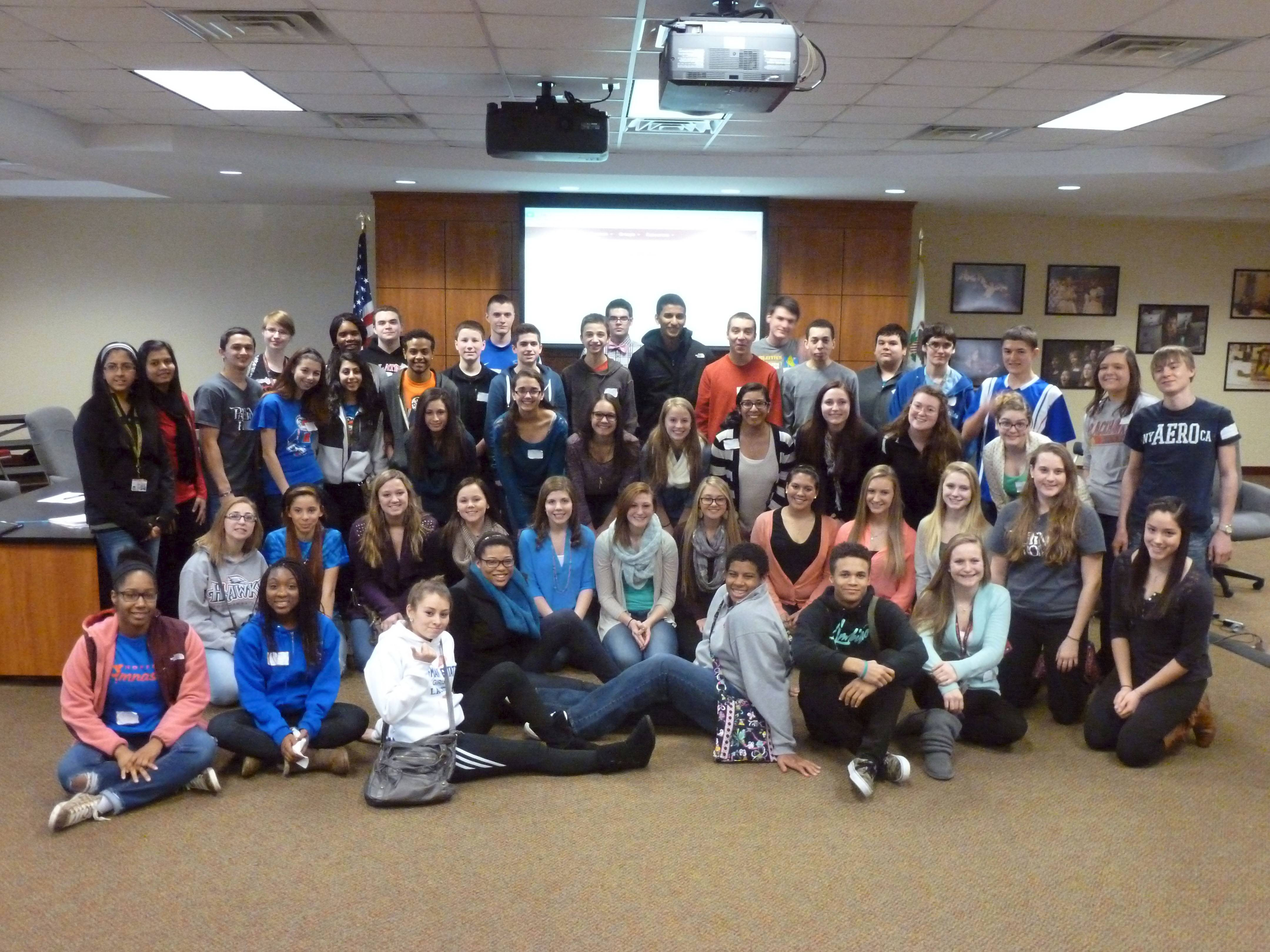 These are the Palatine-Schaumburg High School District 211 students that participated in the Digital Democracy Committee.