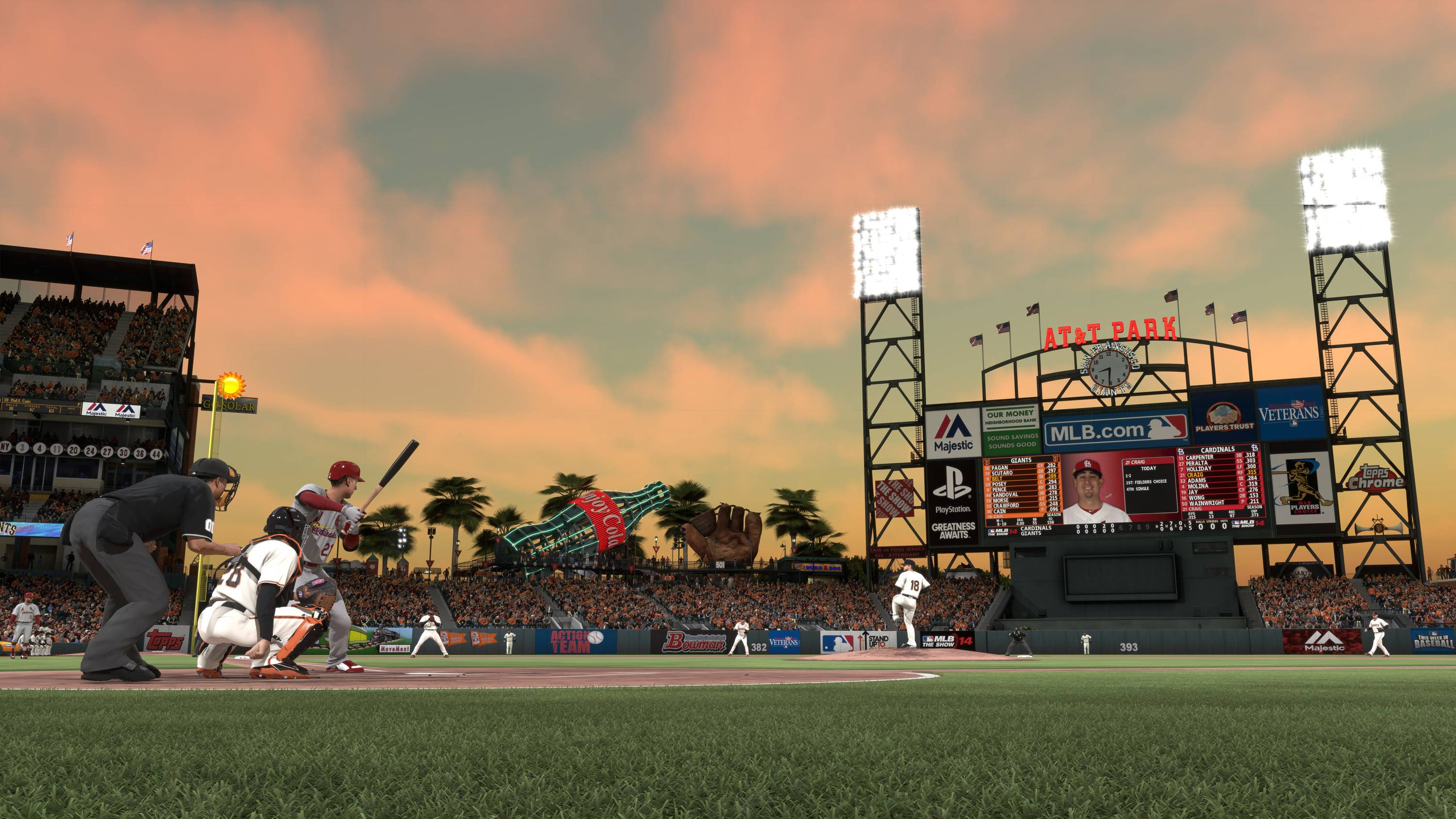 "Sony's San Diego Studio has refurbished every major league stadium in the new PS4 game ""MLB 14: The Show."""