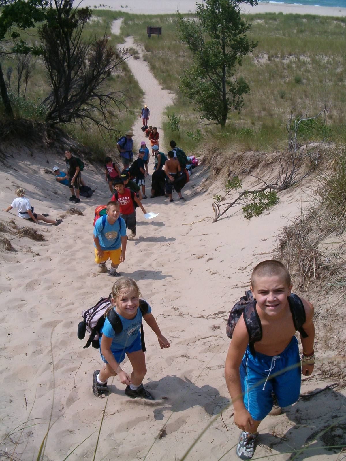 The dunes along the Lake Michigan shoreline in Indiana and Michigan would be among the sites along a proposed Great Lakes trail.