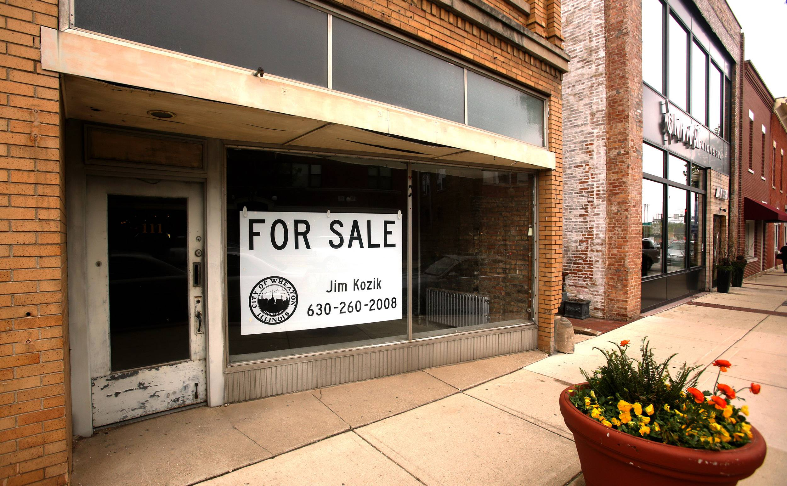 Wheaton is seeking a buyer to renovate a long-vacant building at 111-113 N. Main St.