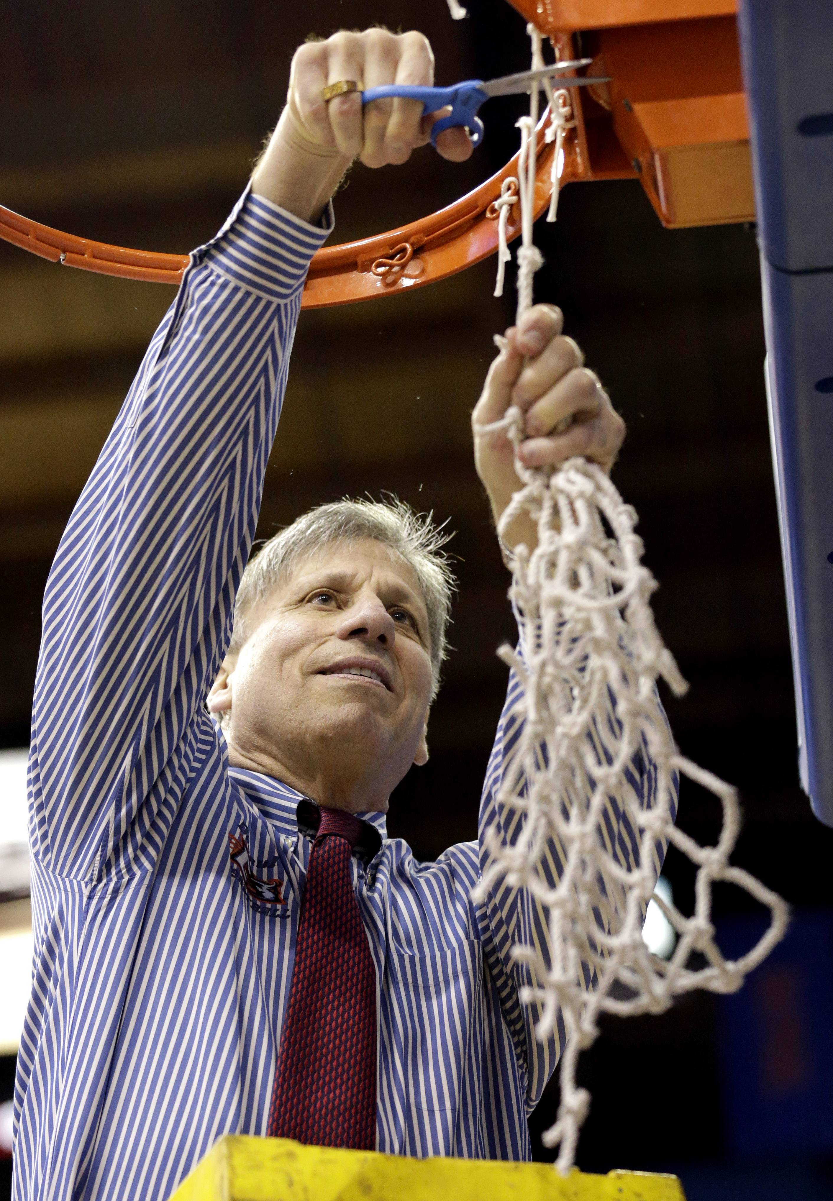 DePaul head coach Doug Bruno, shown here after  defeating St. John's for the Big East women's basketball tournament title, has been selected as an assistant coach for the 2014 USA Basketball Women's World Team.