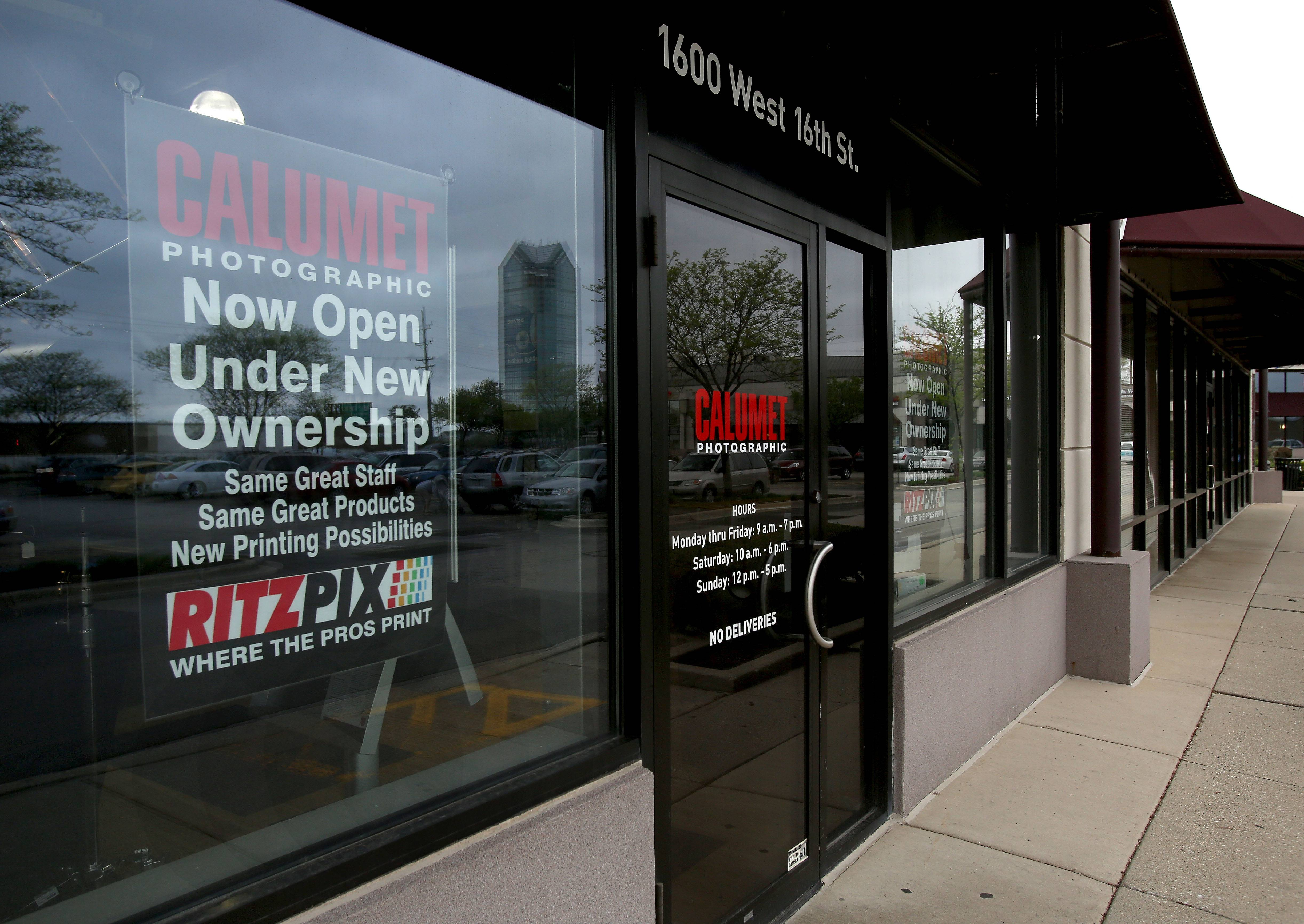 Calumet Photo, which filed bankruptcy earlier this year, has reopened its store in Oak Brook under new ownership.