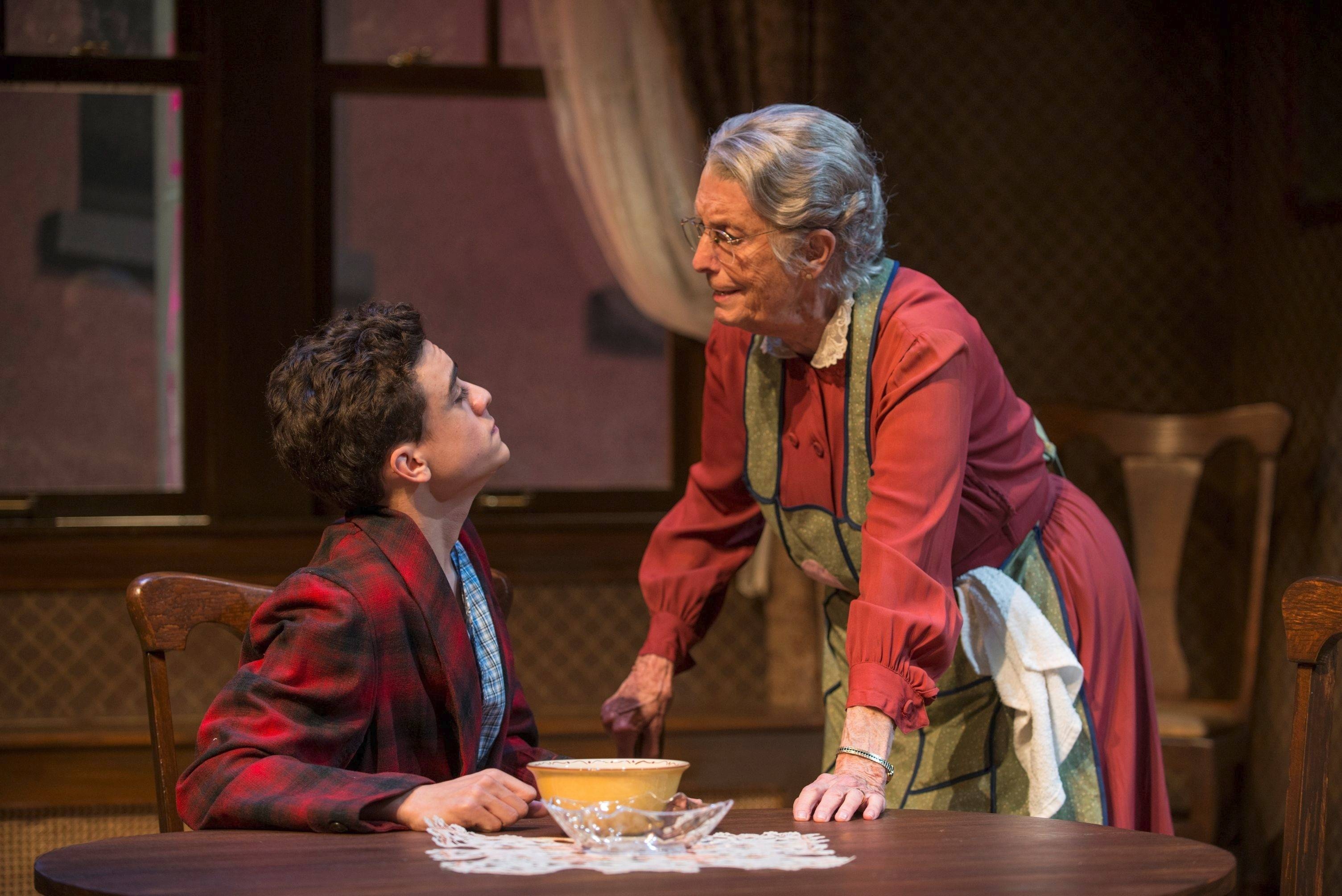 "Grandma (Ann Whitney) spars with her wiseguy grandson Art (Sebastian W. Weigman) in director Devon de Mayo's revival of Neil Simon's comedy ""Lost in Yonkers."