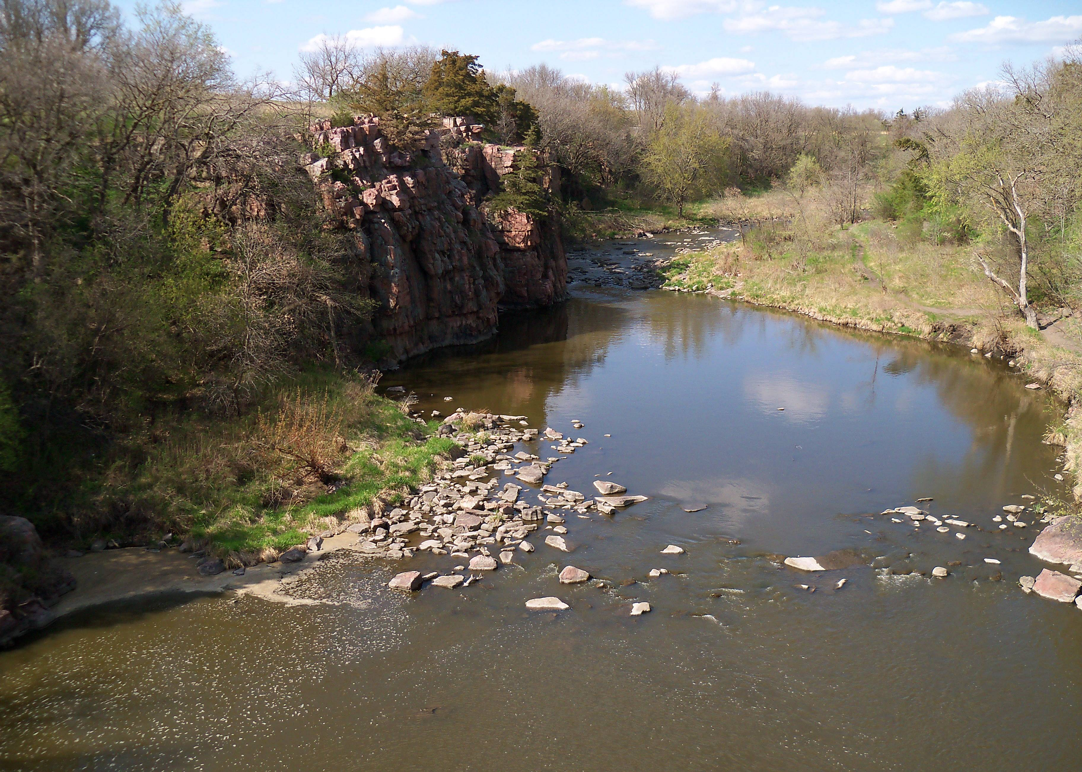 South Dakota's Division of Parks and Recreation says camping reservations are up this year, like at Split Rock Creek in Palisades State Park, partly because of a yearning to be outdoors after the brutal winter.