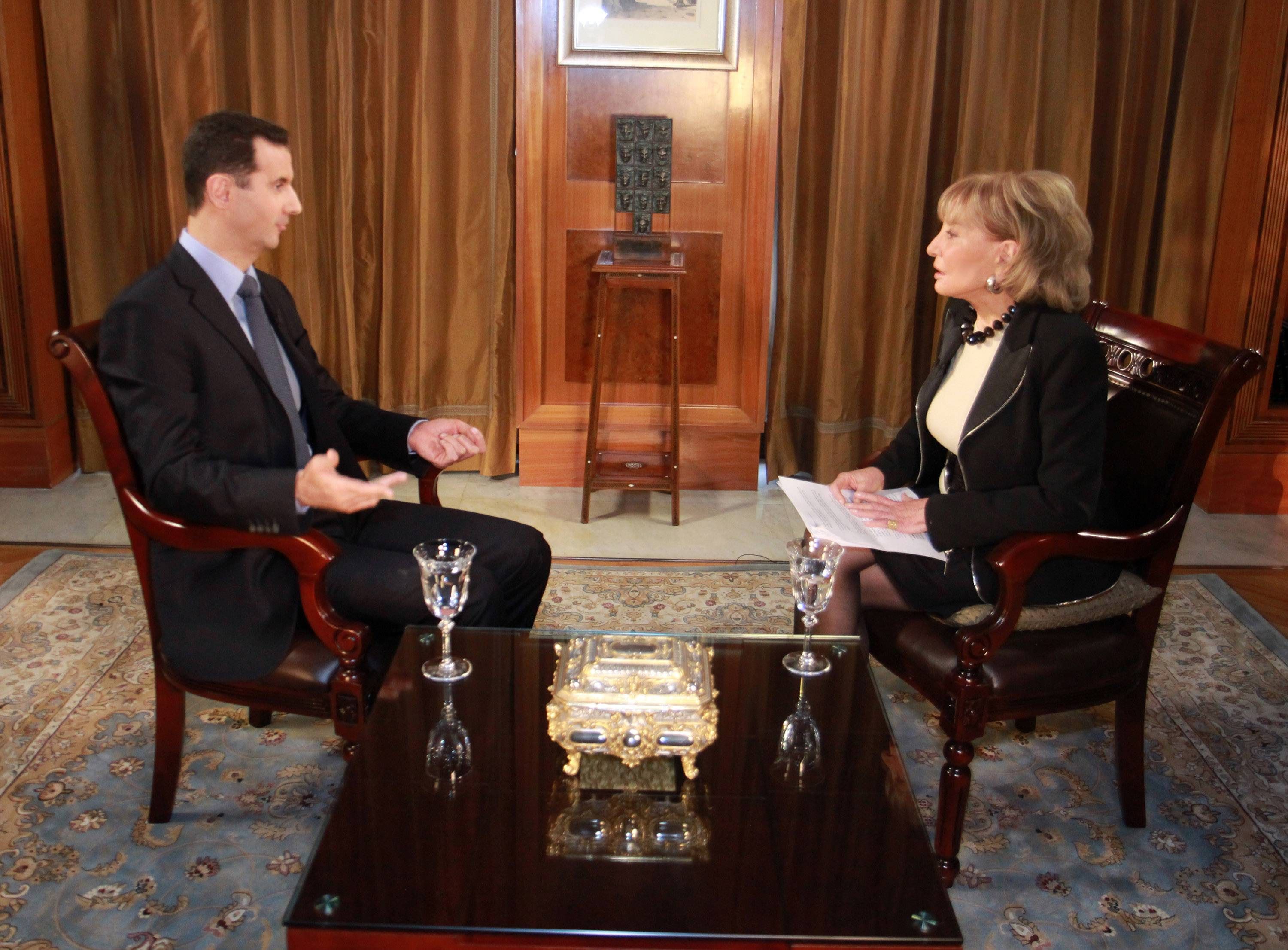 Syrian President Bashar al-Assad speaks with ABC News Anchor Barbara Walters in an interview that aired on Dec. 7, 2011. Though she's retiring, Walters isn't completely giving up working in TV.