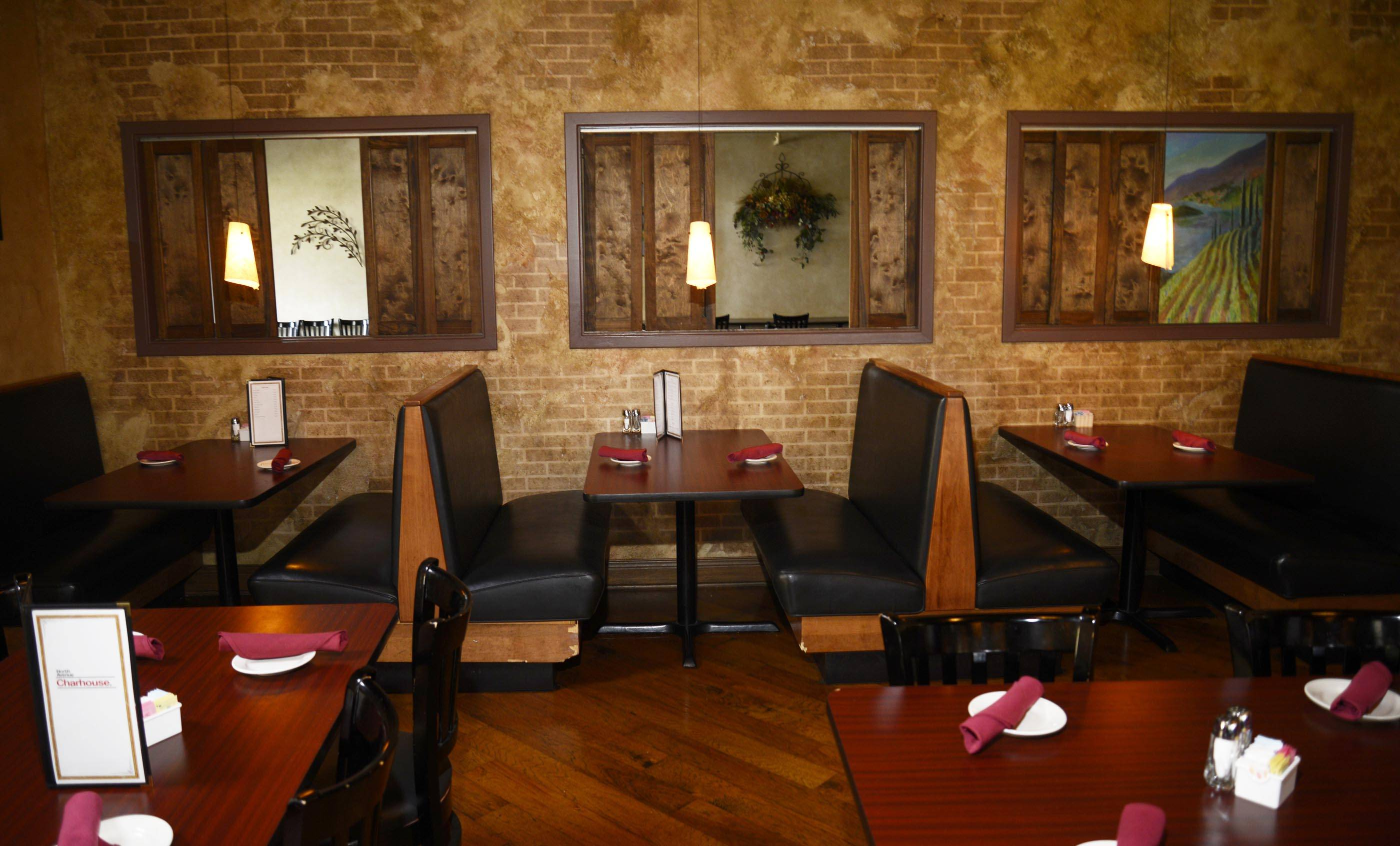 Booths provide comfortable dining option at North Avenue Charhouse in St. Charles.
