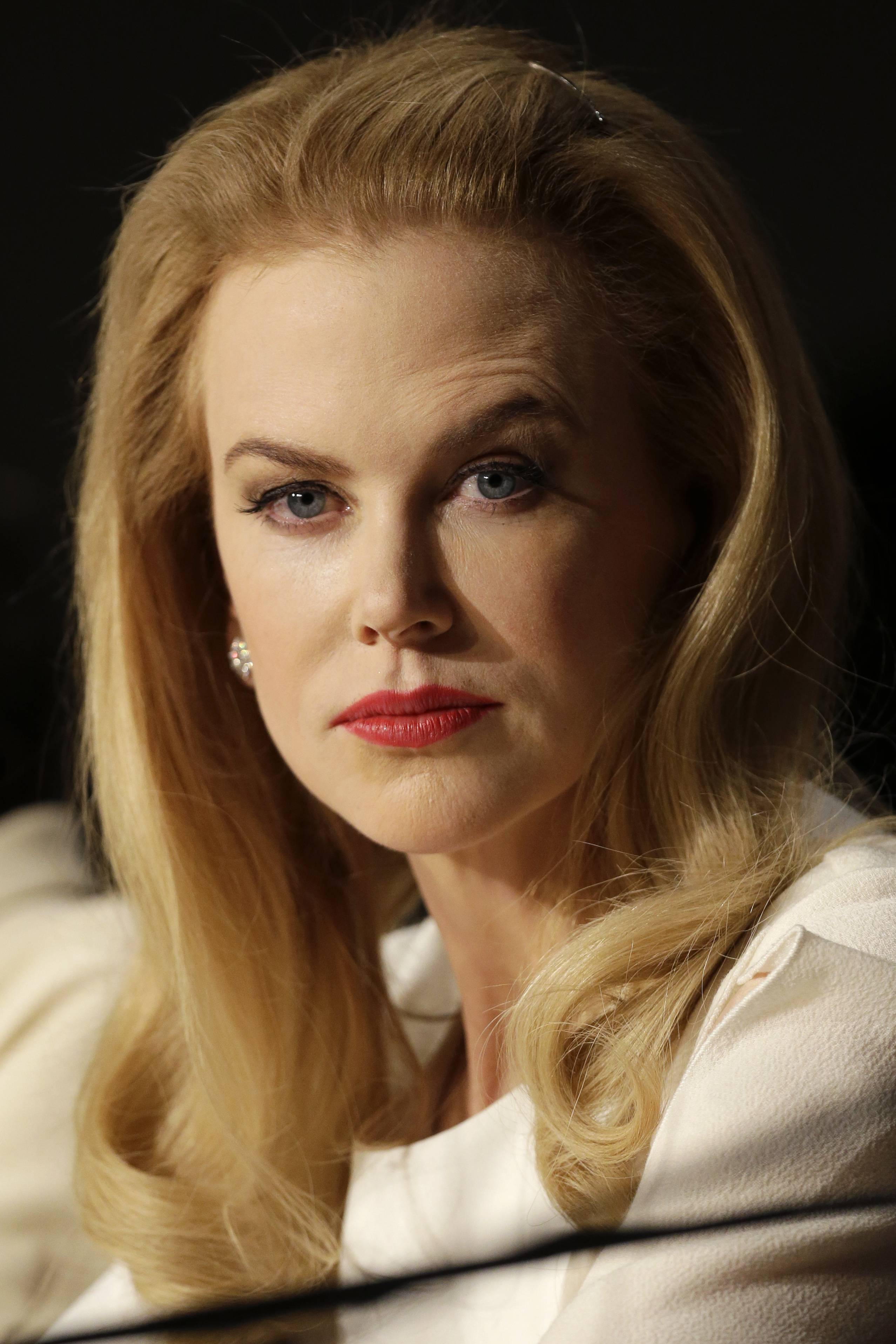 "Actress Nicole Kidman pauses before answering questions during a press conference Wednesday for the film ""Grace of Monaco"" at the 67th Cannes Film Festival in southern France."