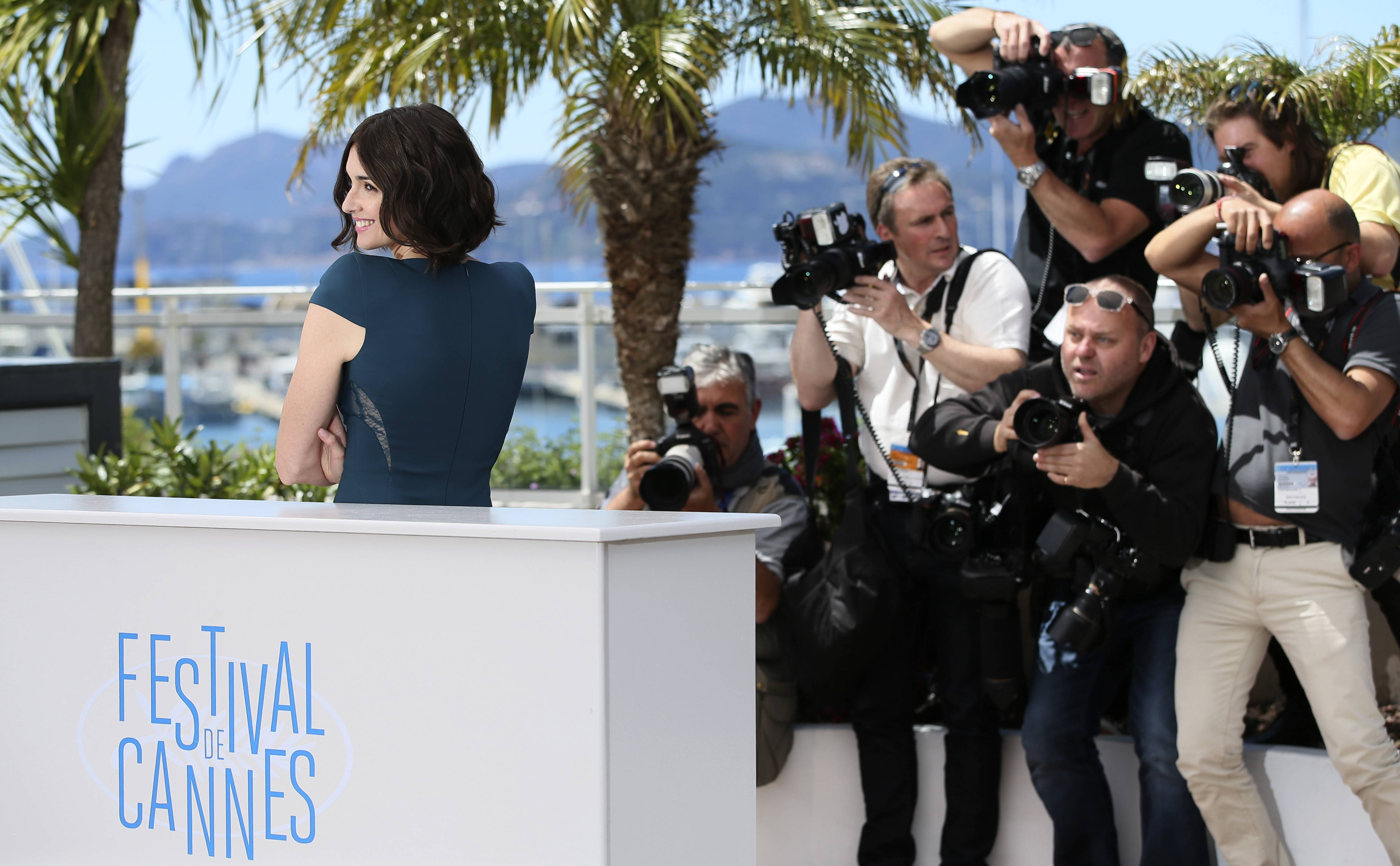 "Actress Paz Vega poses for photographers during a photo call Wednesday for ""Grace of Monaco"" at the 67th Cannes Film Festival in southern France."