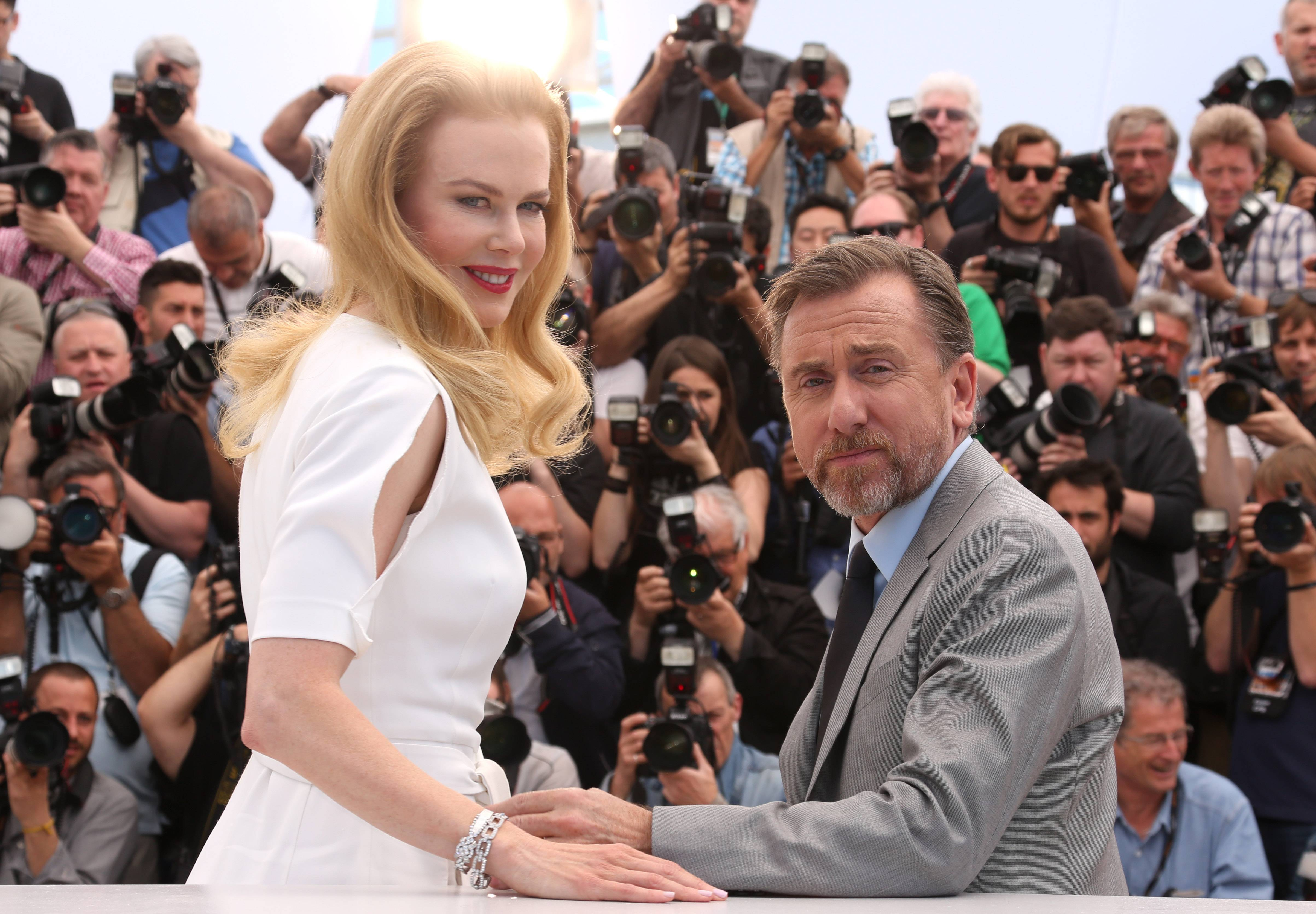 "Actors Nicole Kidman and Tim Roth pose for photographers during a photo call Wednesday for the film ""Grace of Monaco"" at the 67th Cannes Film Festival in southern France."