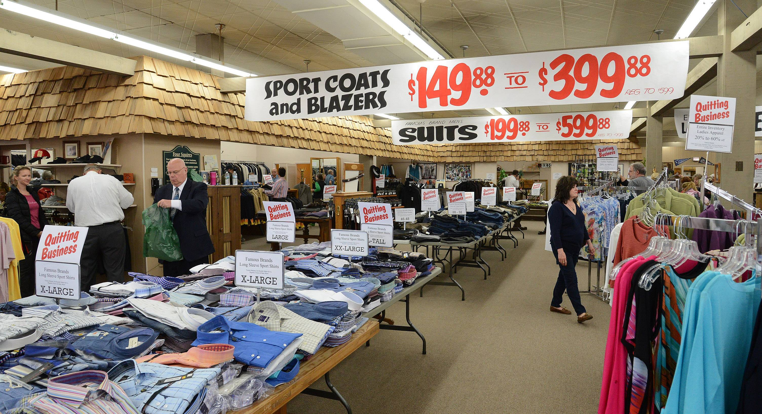 The owners of Four Squires clothing store in Antioch are hosting an inventory sale ahead of the store's closing. It has operated in downtown Antioch since 1972, but co-owners Lance and Sue Hansen are ready to retire.