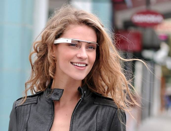 An early prototype of Google's futuristic Internet-connected glasses