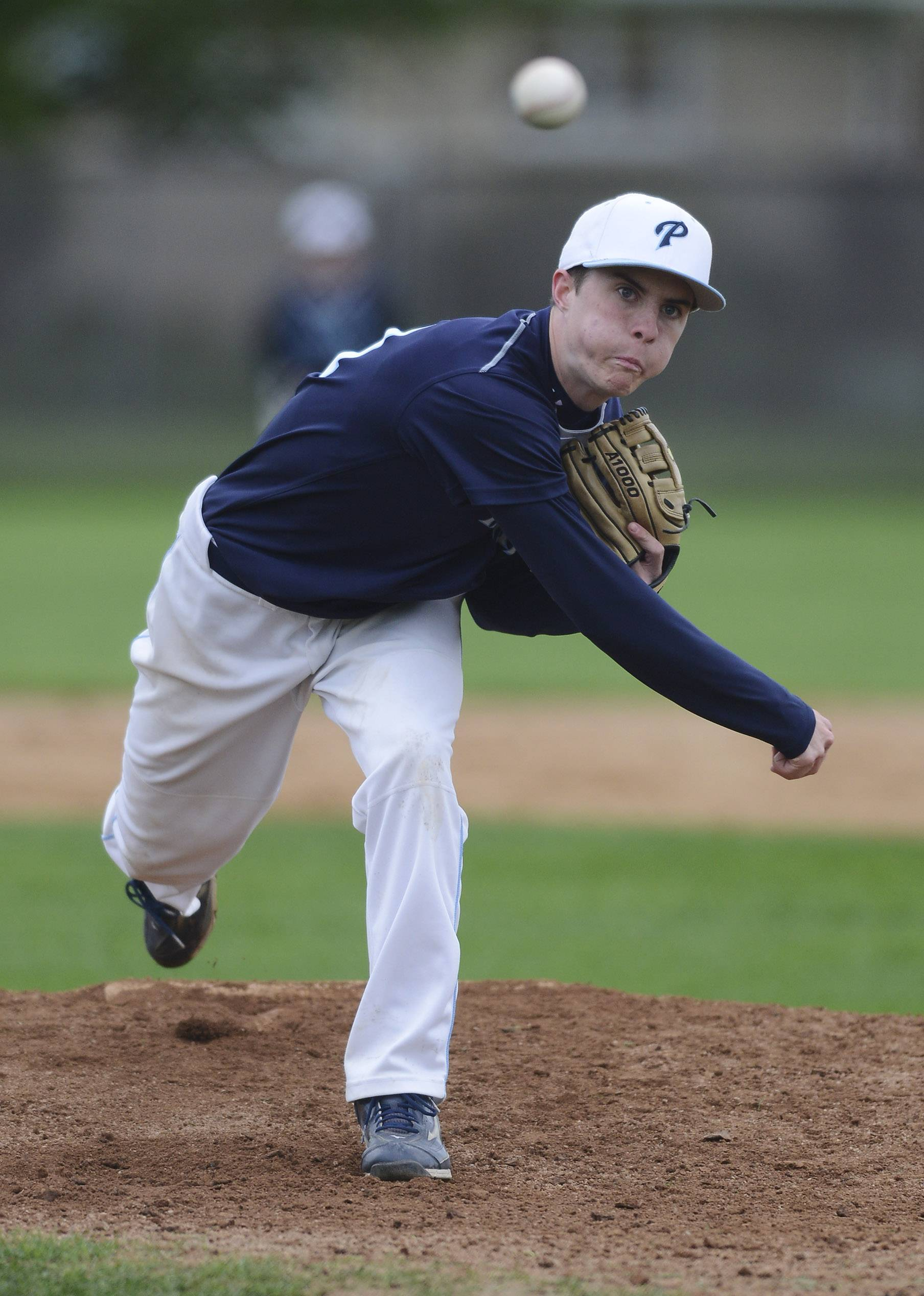 Propect's Jimmy Kennedy delivers during Wednesday's game against Hersey in Arlington Heights.