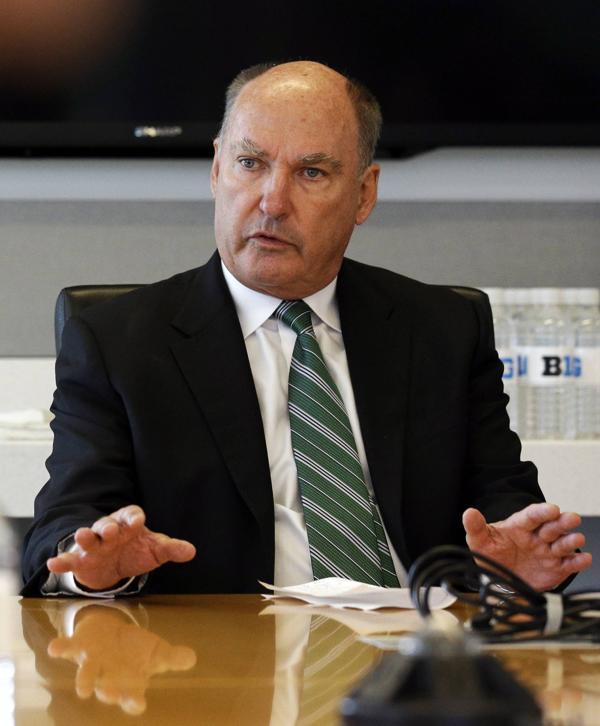 "Big Ten Commissioner Jim Delany says ""70 percent of the people"" are against athletes unionizing."