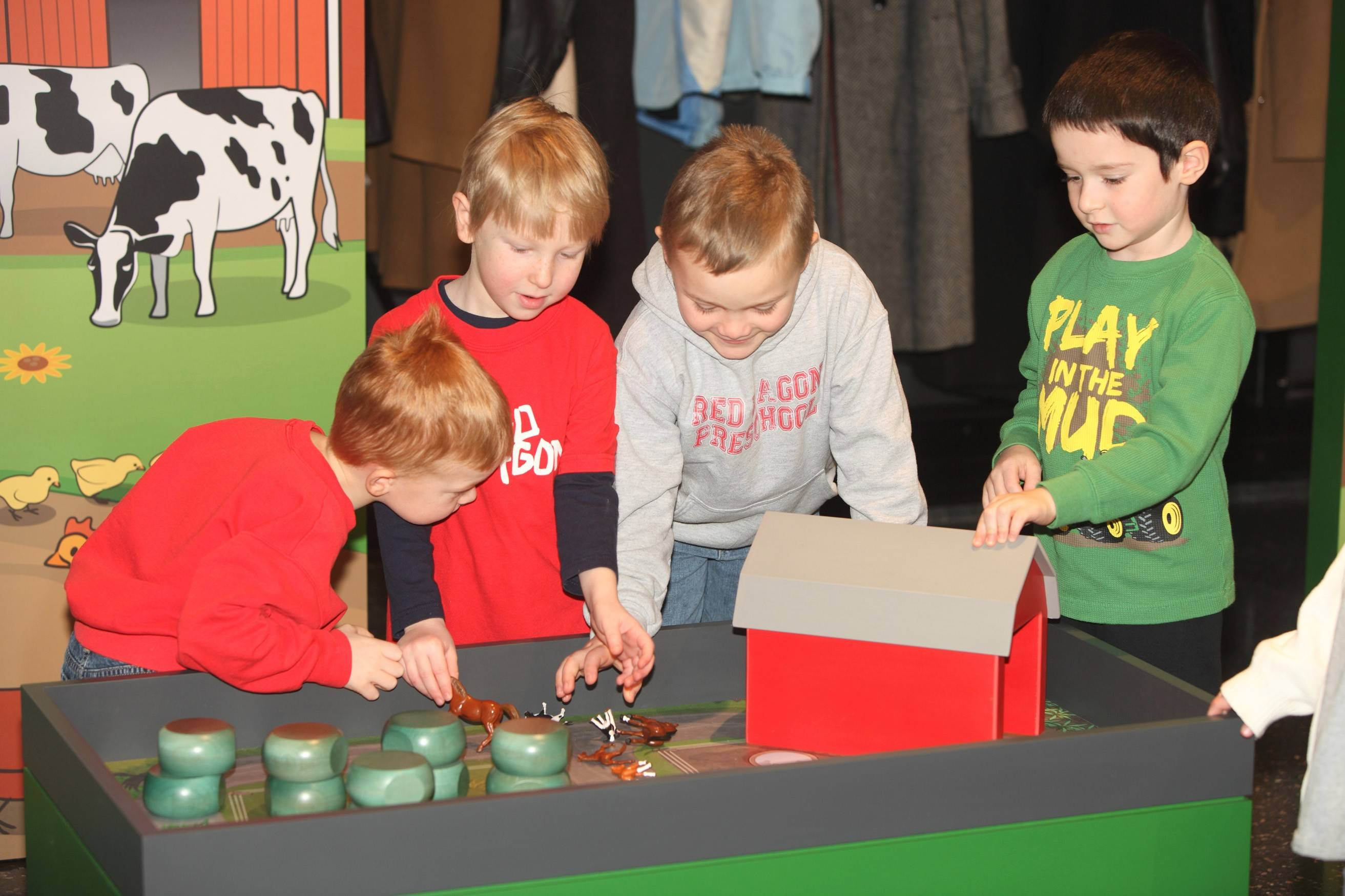 The John Deere Pavilion in Moline enchants kids, as well as adults, with its machine-driving simulators and a Discovery Zone for little ones to learn where food comes from and how it gets transported.