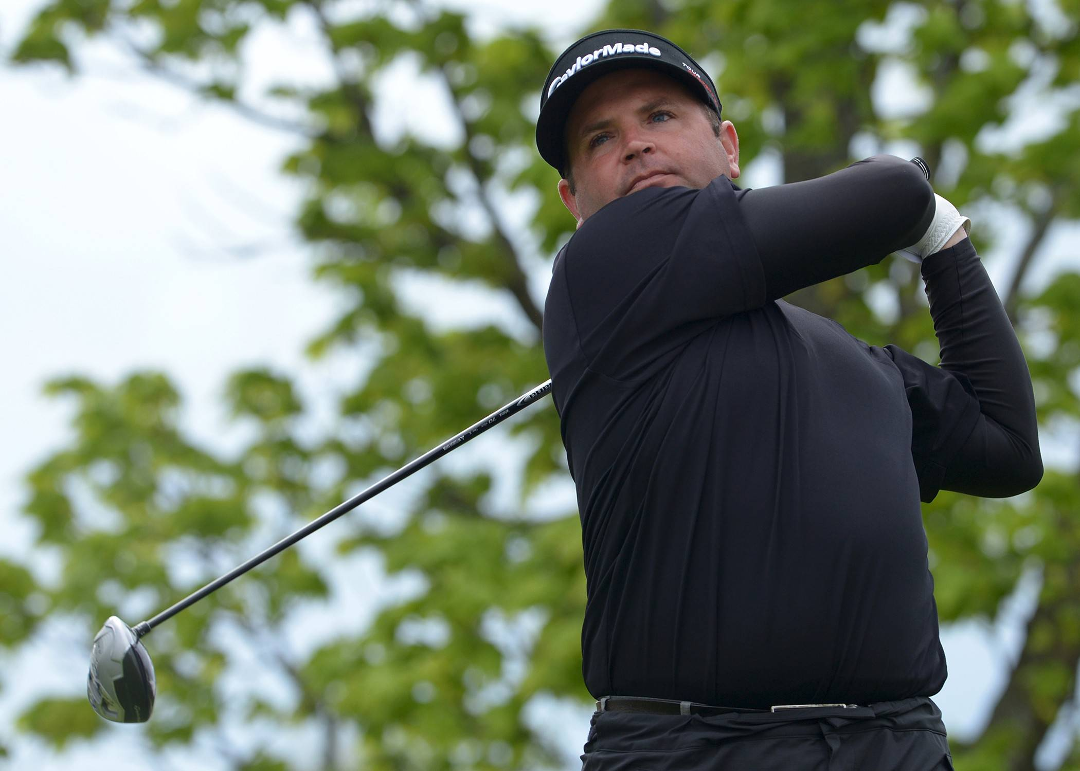 Curtis Malm, 36, Aurora, watches his drive on the first hole in the final match of the 63rd Illinois PGA Match Play Championship. Malm defeated Medinah C.C. teaching professional Travis Johns 1-up at Kemper Lakes Golf Club.