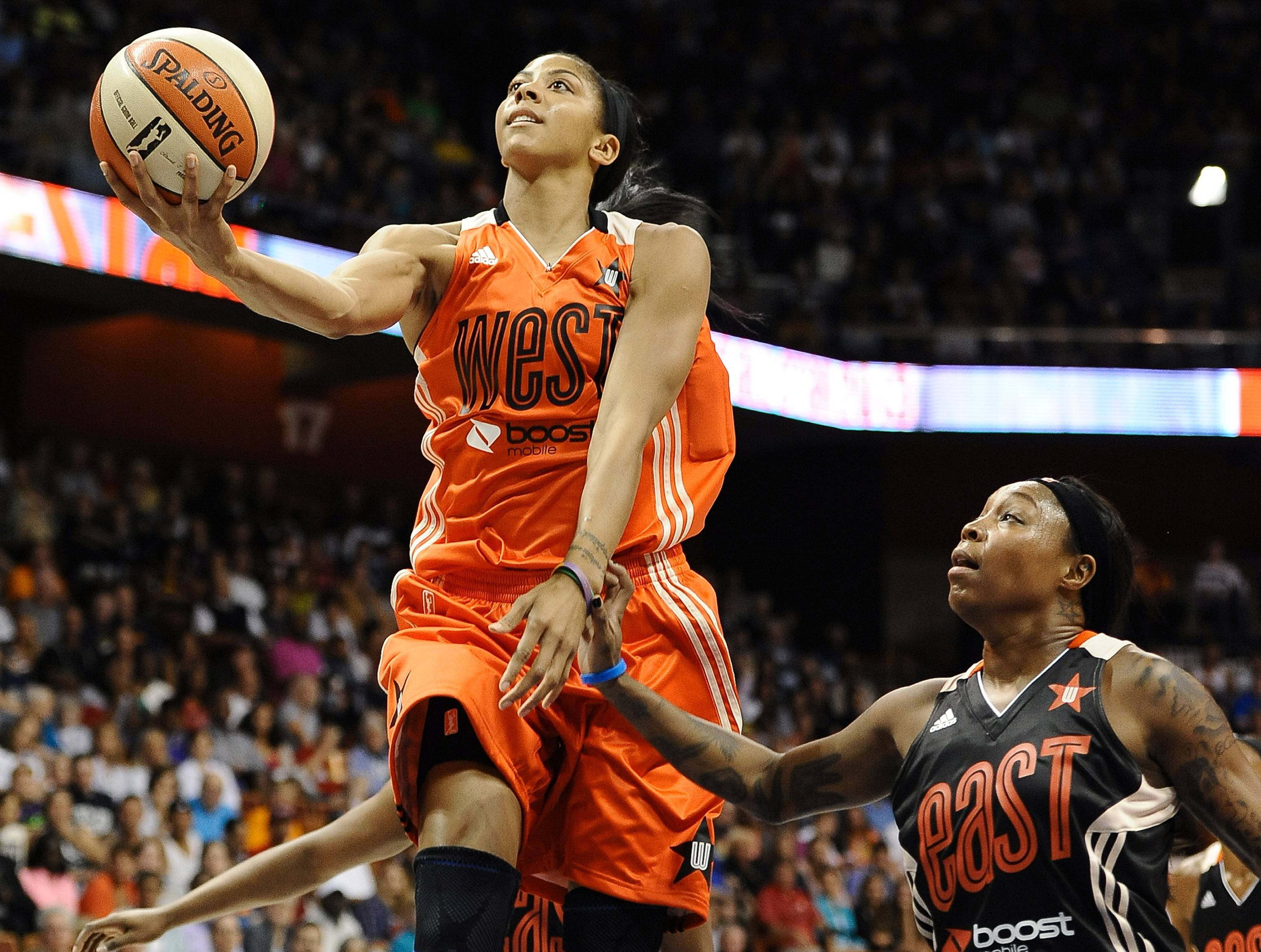 Candace Parker of the Los Angeles Sparks will try to repeat as the WNBA's MVP when the season begins Friday.
